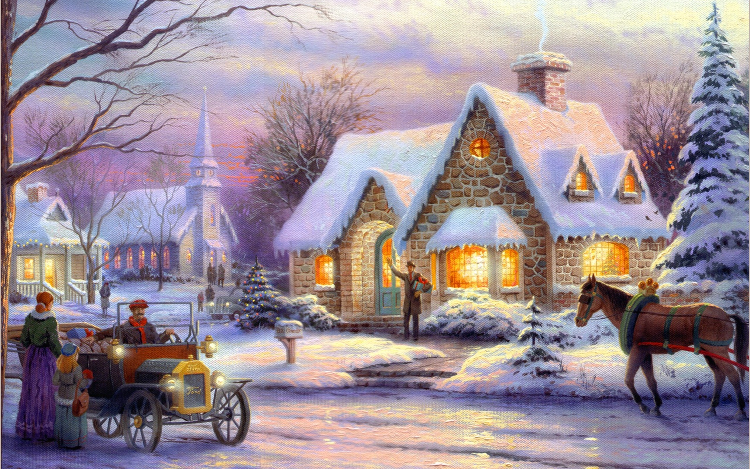 Christmas Art Wallpapers High Quality | Download Free
