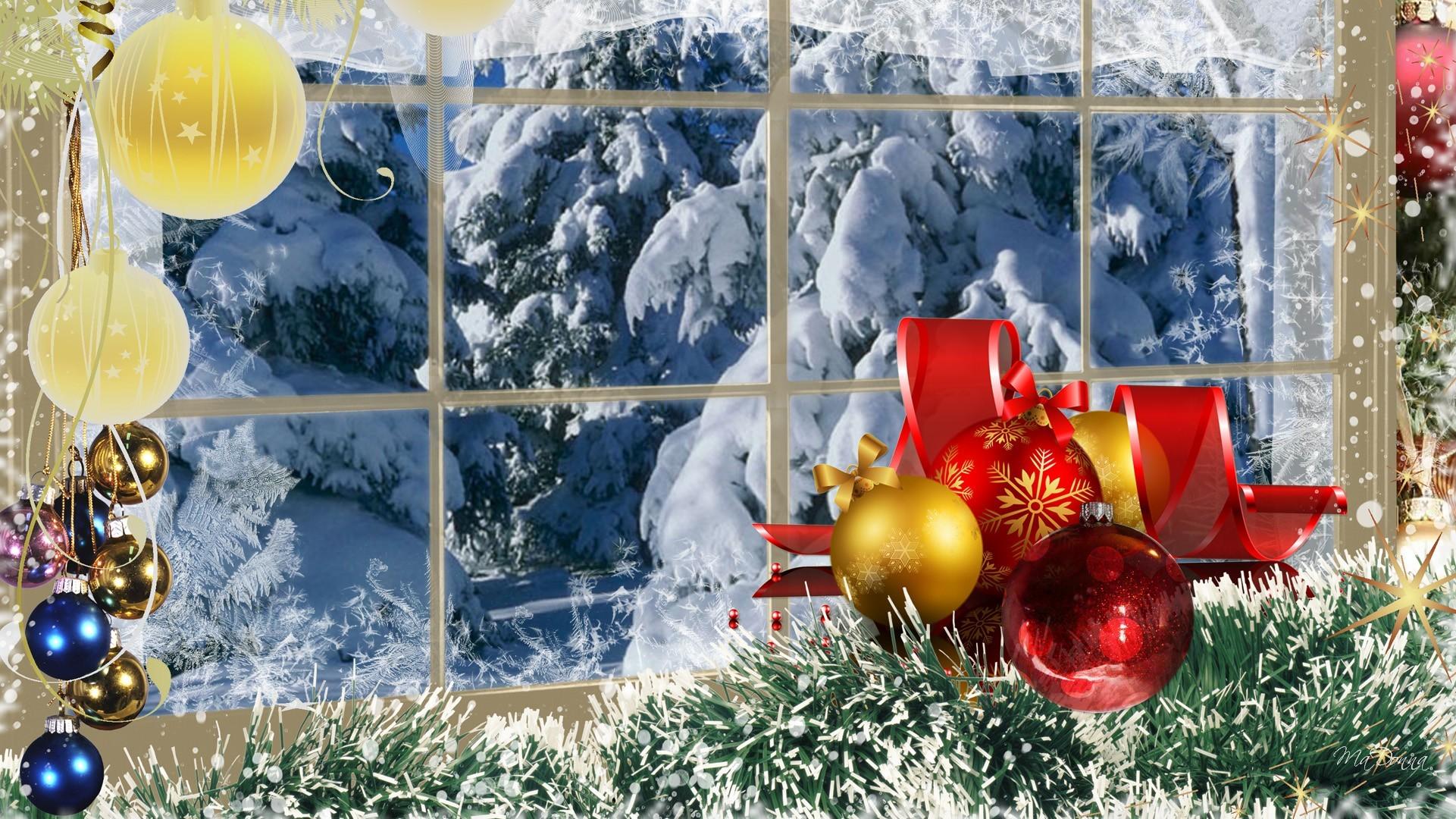 Christmas Frost Scene