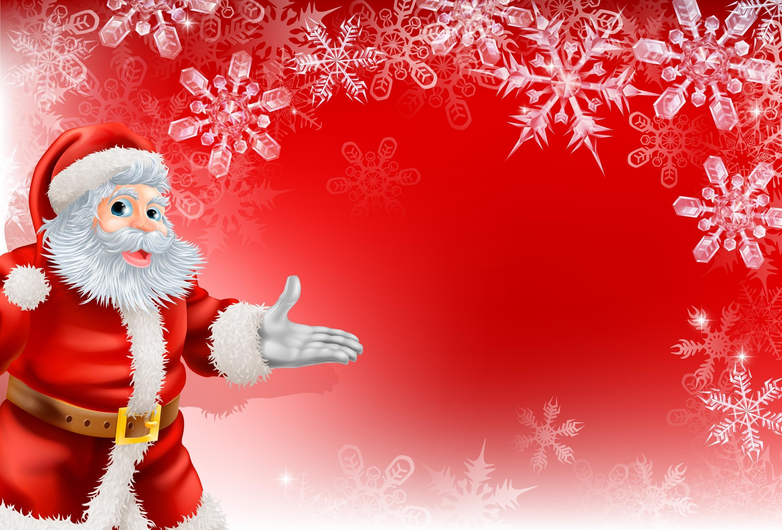 Cute Santa Merry Christmas Background #1119