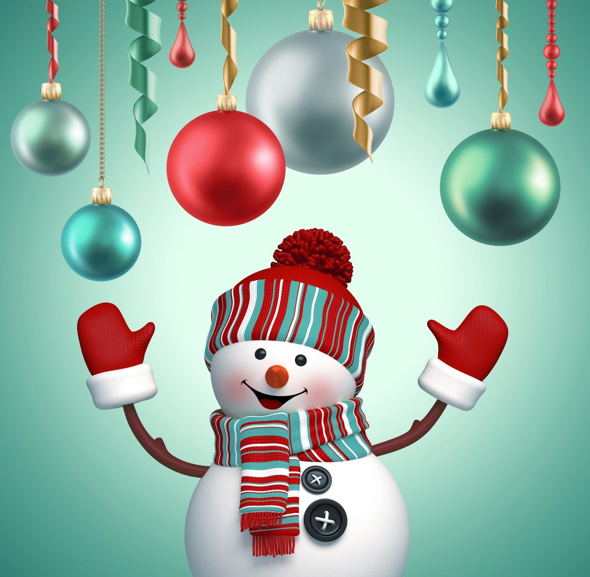 snowman 3d cute merry christmas new year decoration snowman new year  christmas balls