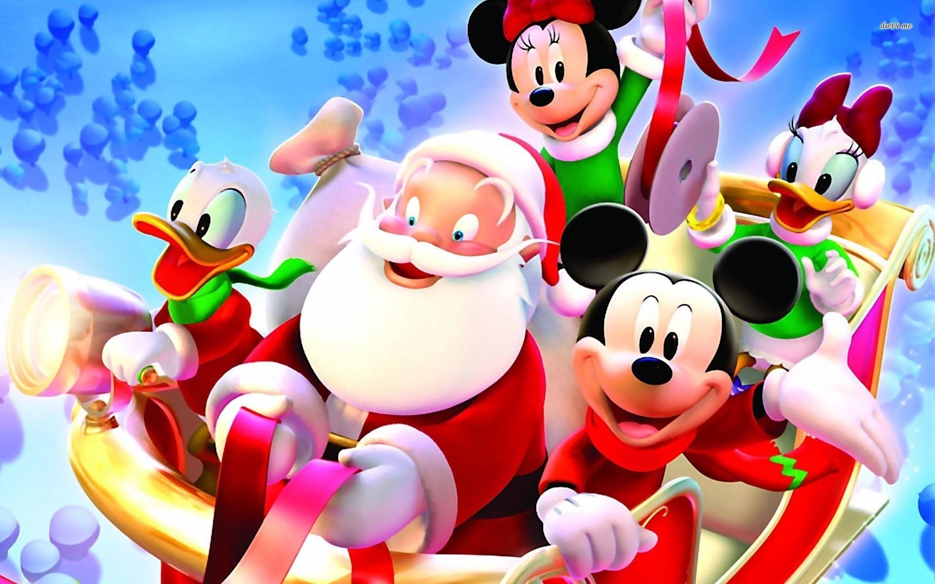 Christmas merry christmas santa santa claus mickey mouse minnie mouse daffy  duck disney.