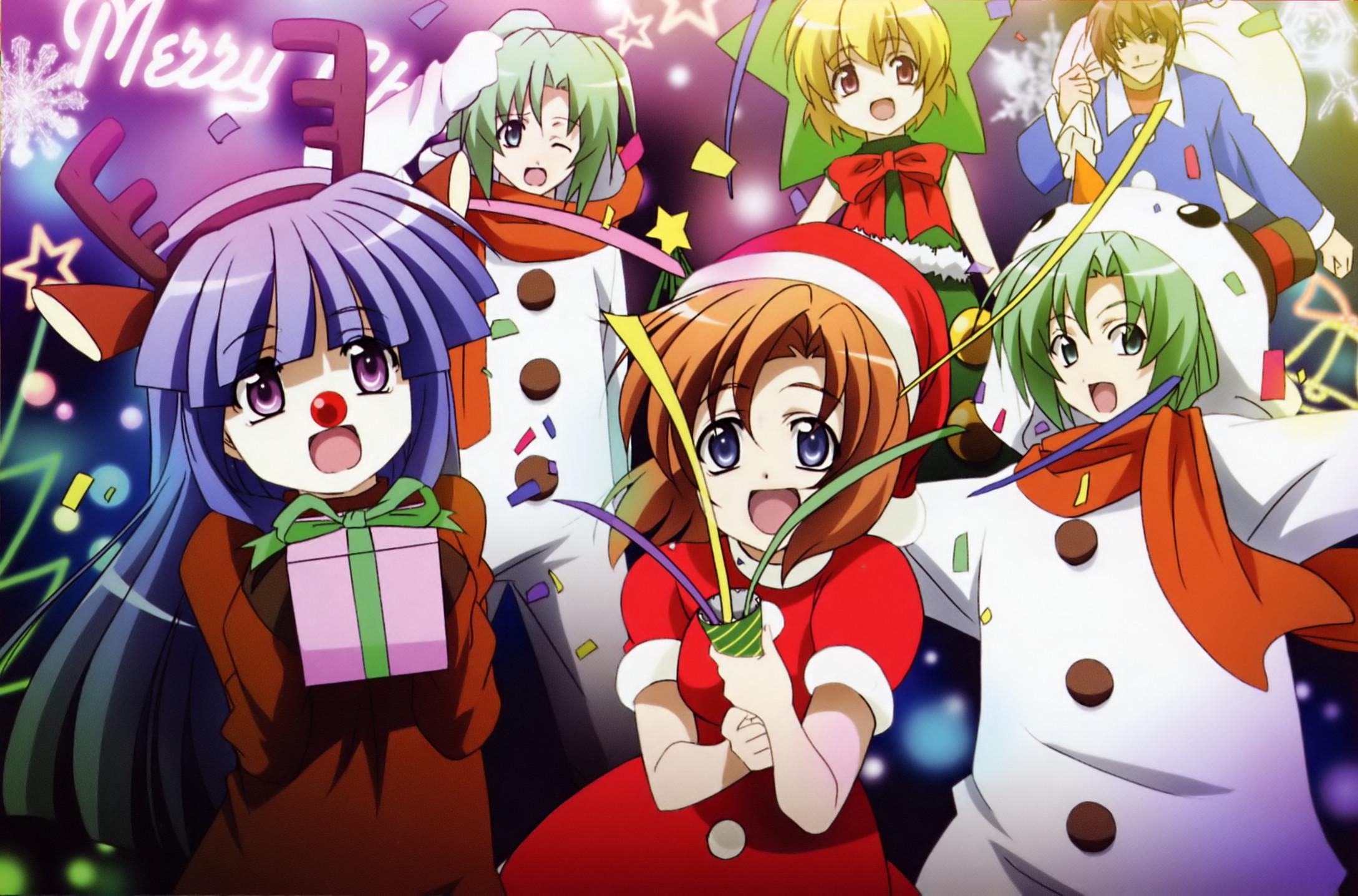 Christmas Cute Anime Wallpapers.