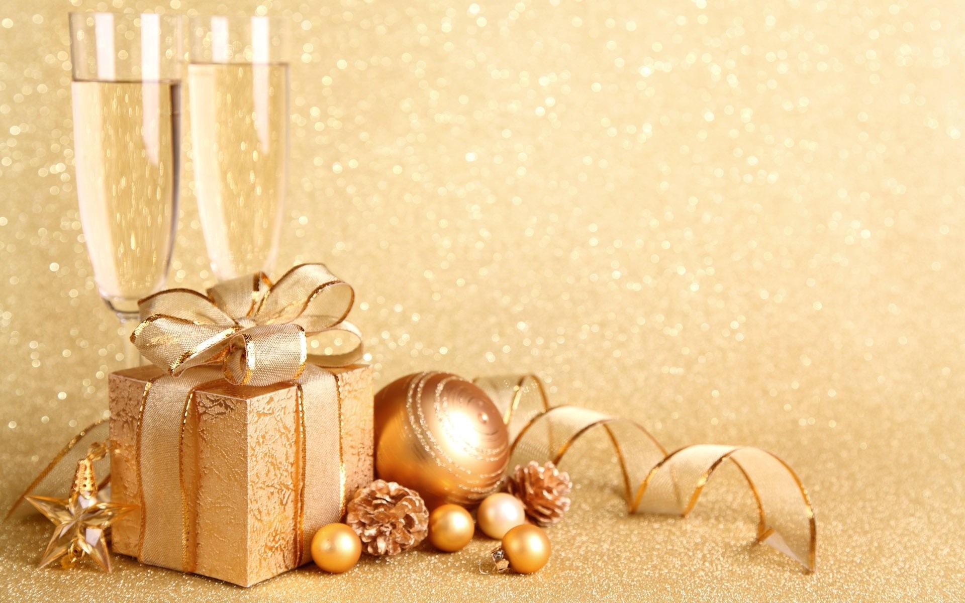 Christmas Present And Globes