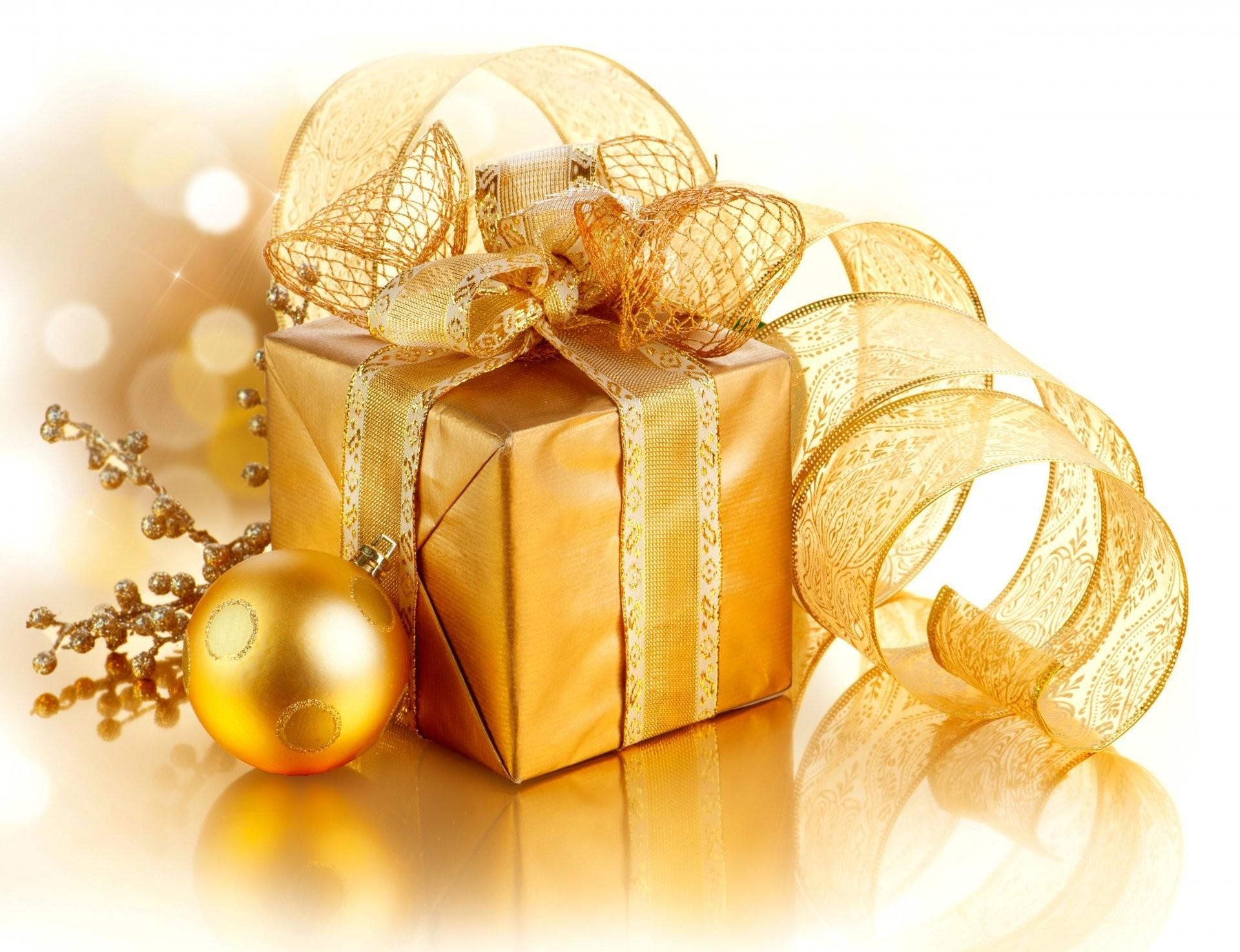 golden xmas merry christmas gift box decoration christmas new year present  gold decoration belt