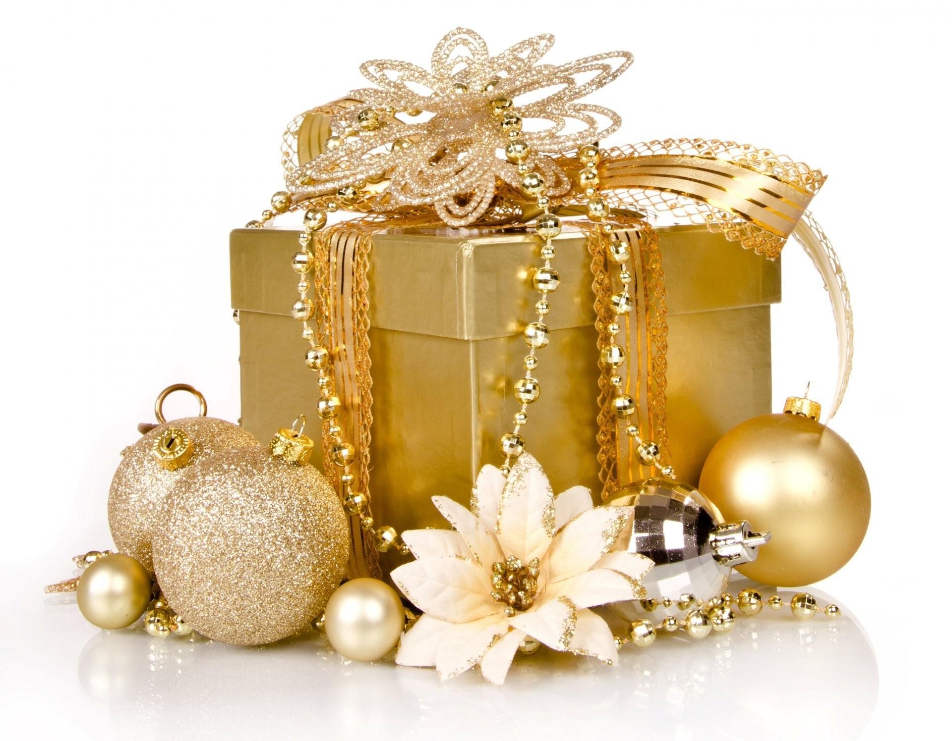 golden xmas merry christmas gift box decoration christmas new year present  gold decoration