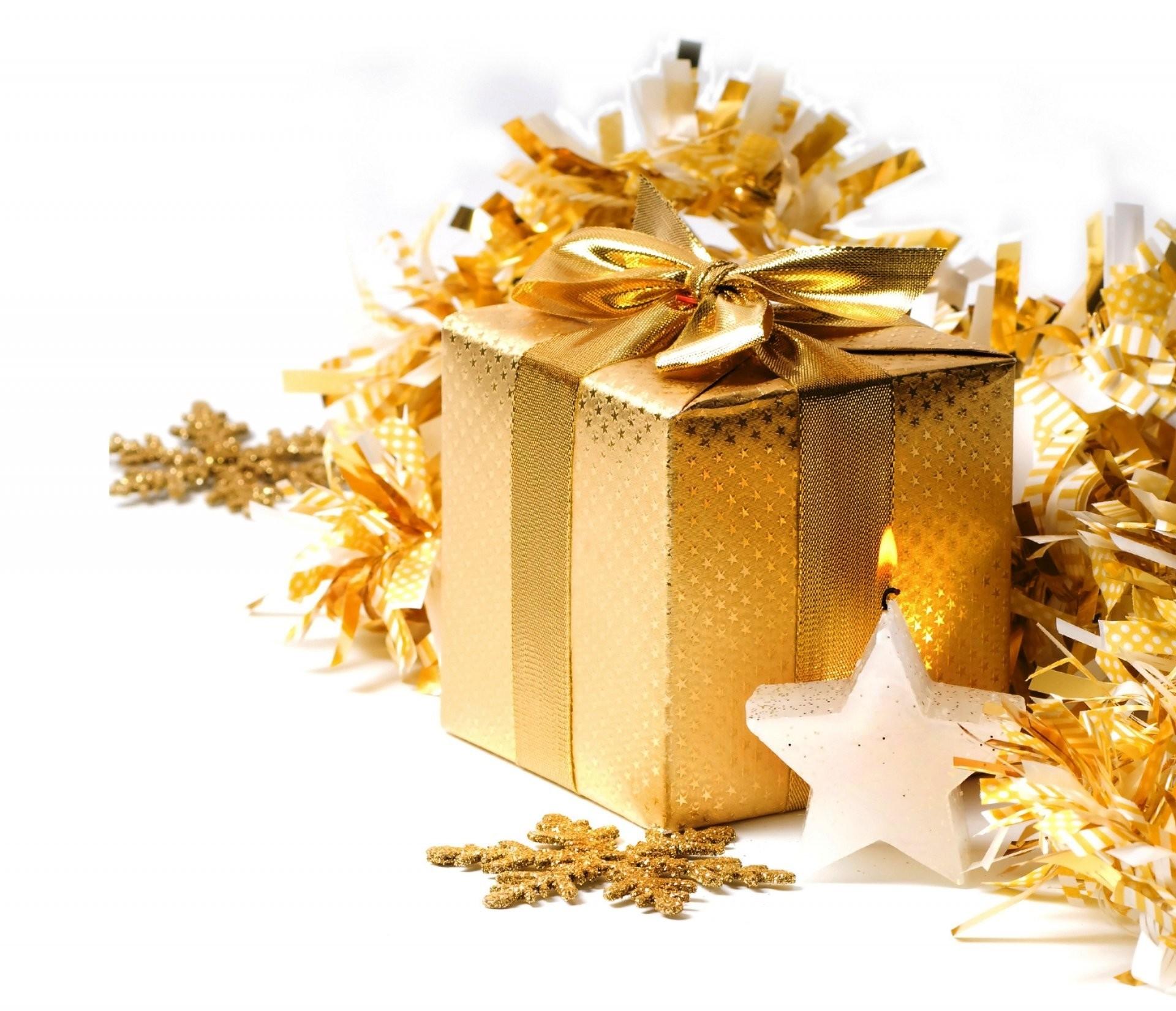 golden xmas merry christmas gift box decoration christmas new year present  gold decoration snowflakes