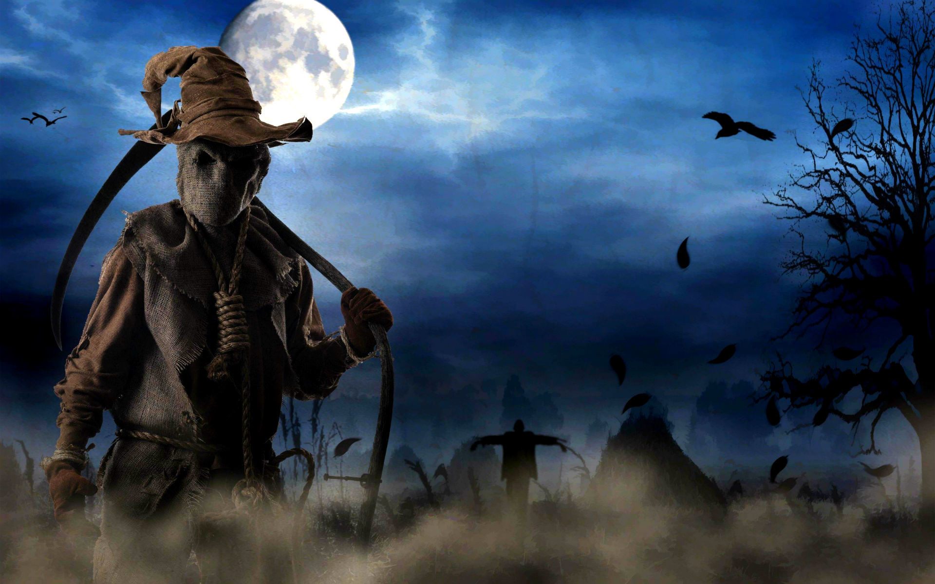 Full HD Halloween Ghost Wallpaper.