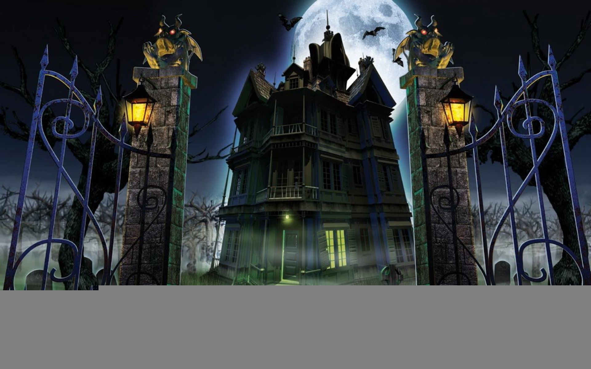 Halloween Haunted House HD Wallpaper