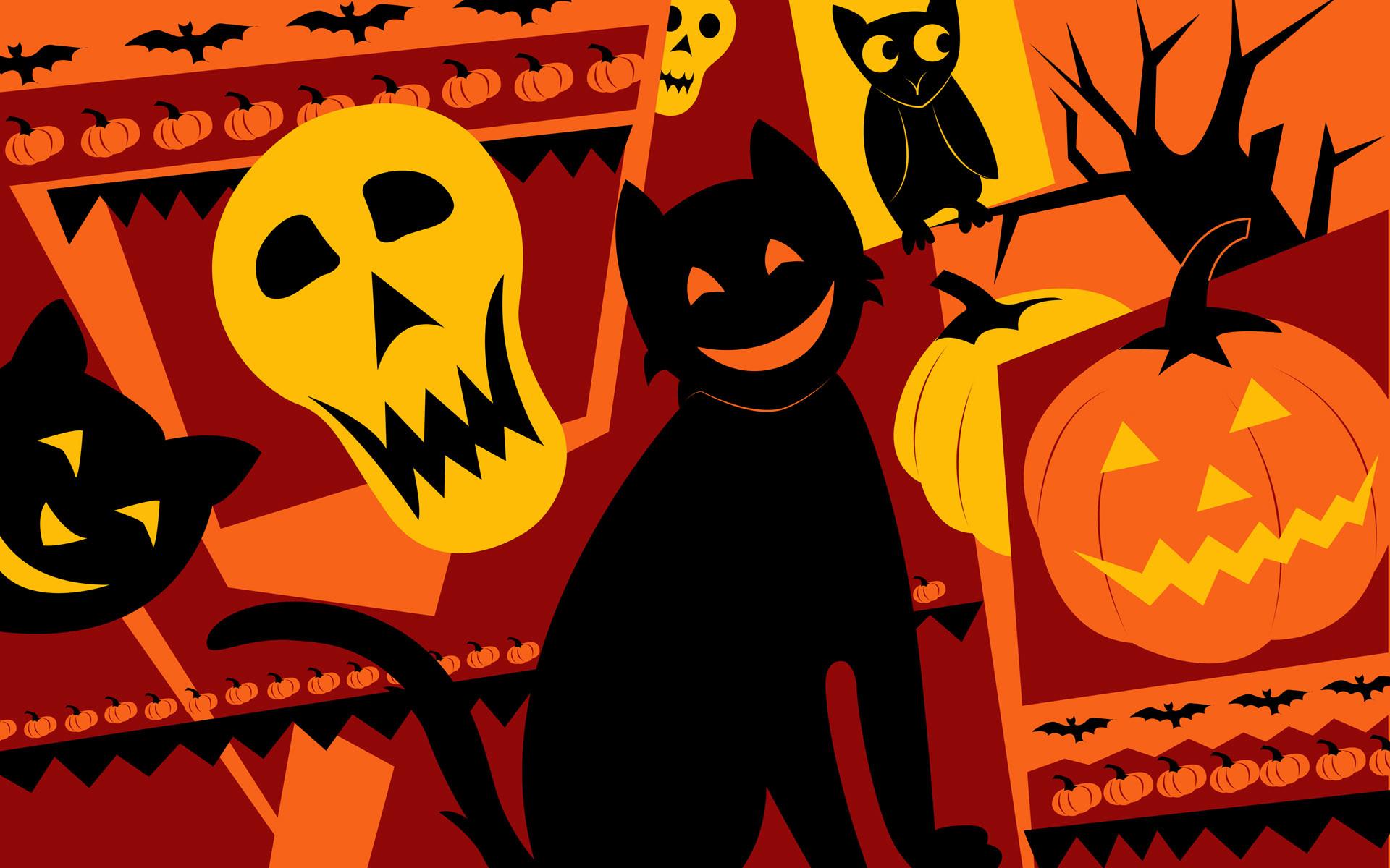 Beautiful Hello Kitty Halloween Wallpaper.