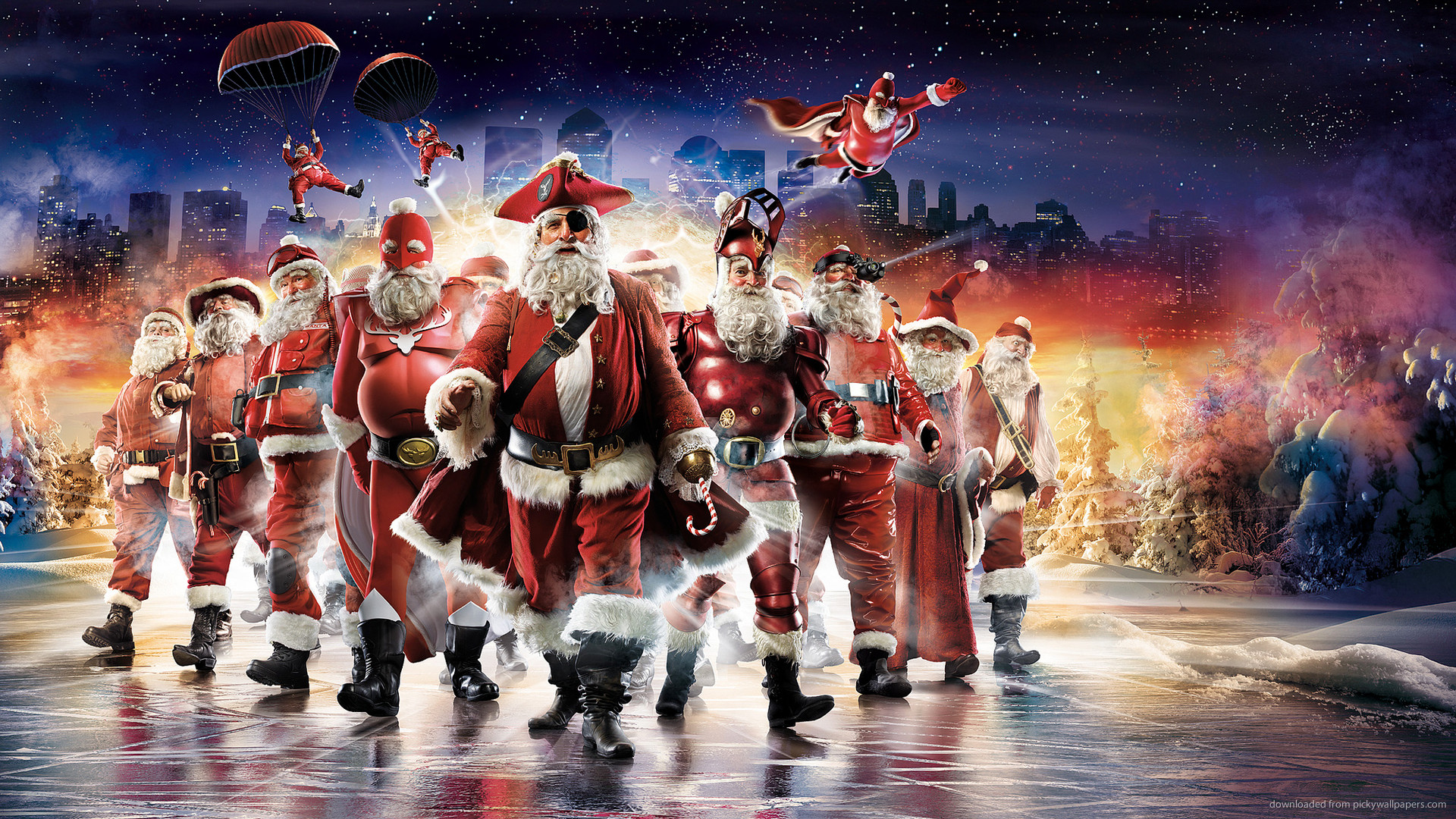 HD Superheroes Christmas wallpaper
