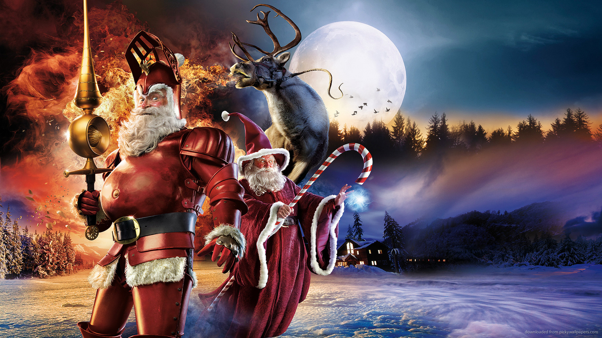 HD Lord of the Rings Christmas wallpaper