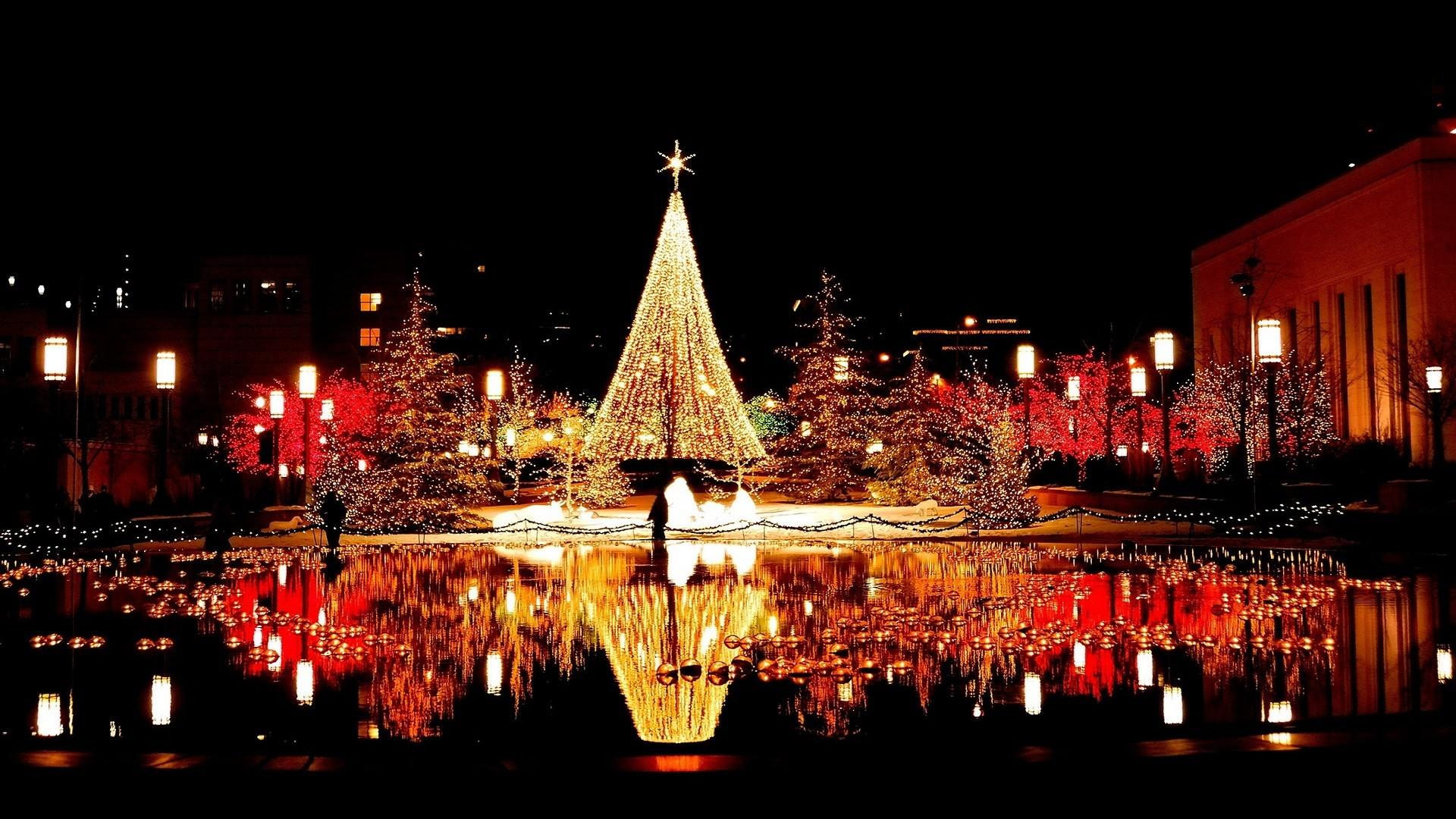 Christmas reflection light 1080p hd photos.