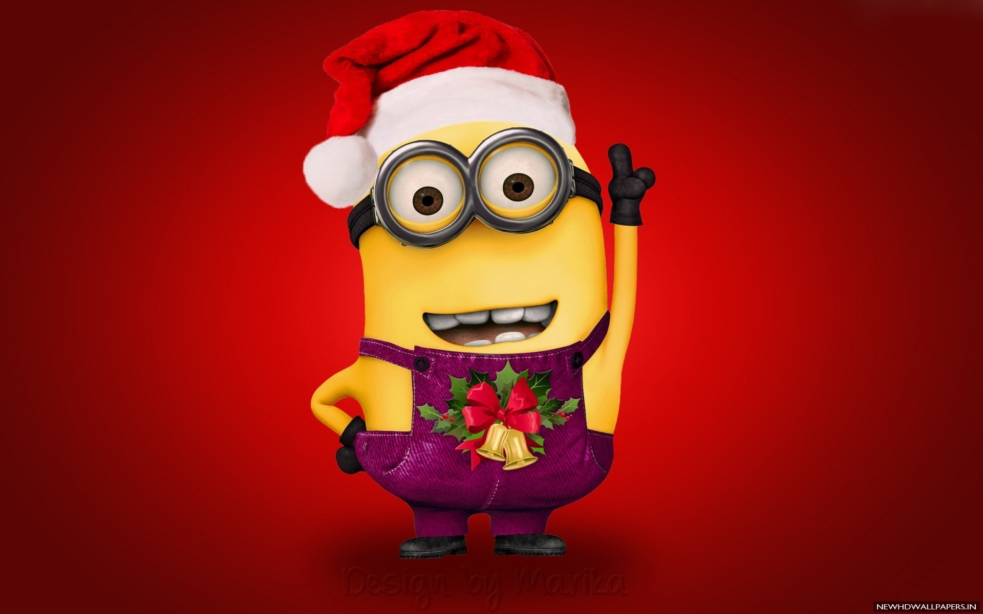 Minion Wearing Merry Christmas Wallpaper
