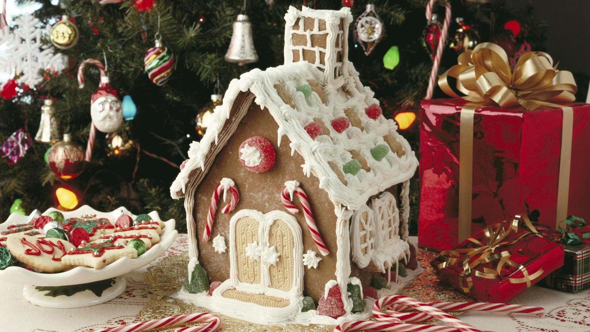 … Background Full HD 1080p. Wallpaper camping, food, sweet,  cookies, christmas