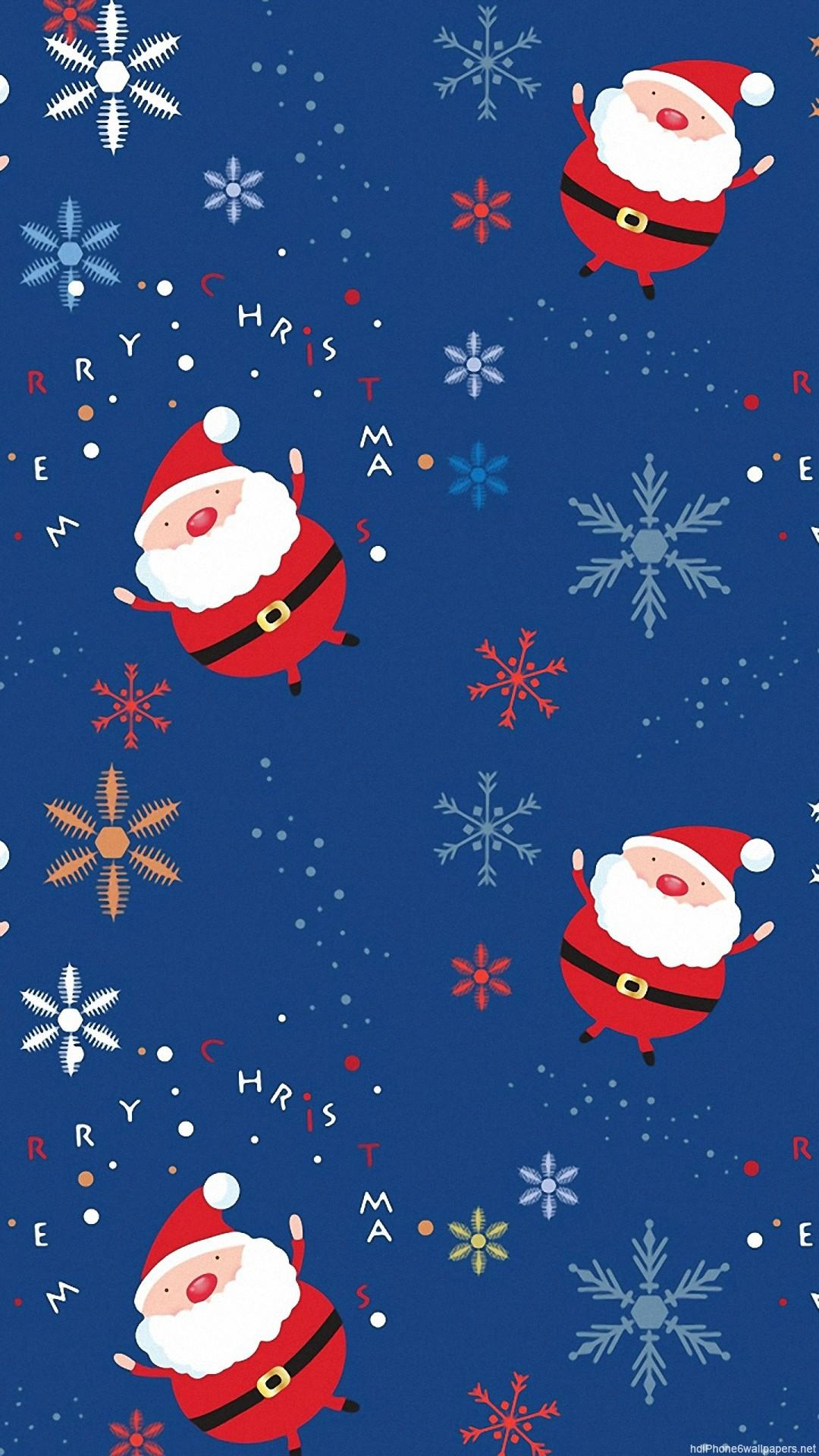 HD christmas pattern snow iphone 6 wallpaper