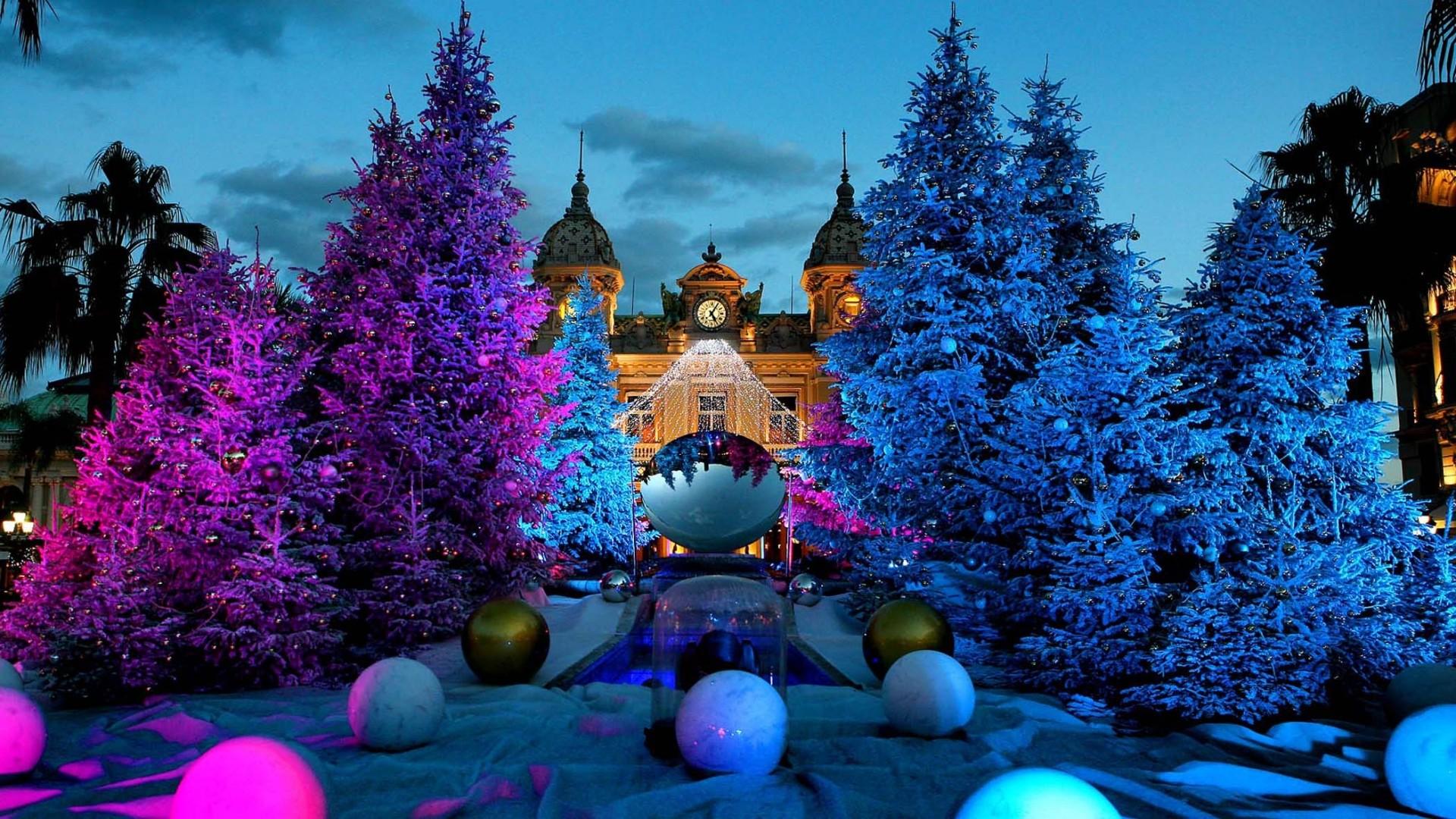 … Background Full HD 1080p. Wallpaper christmas tree, casino,  monte carlo, monaco