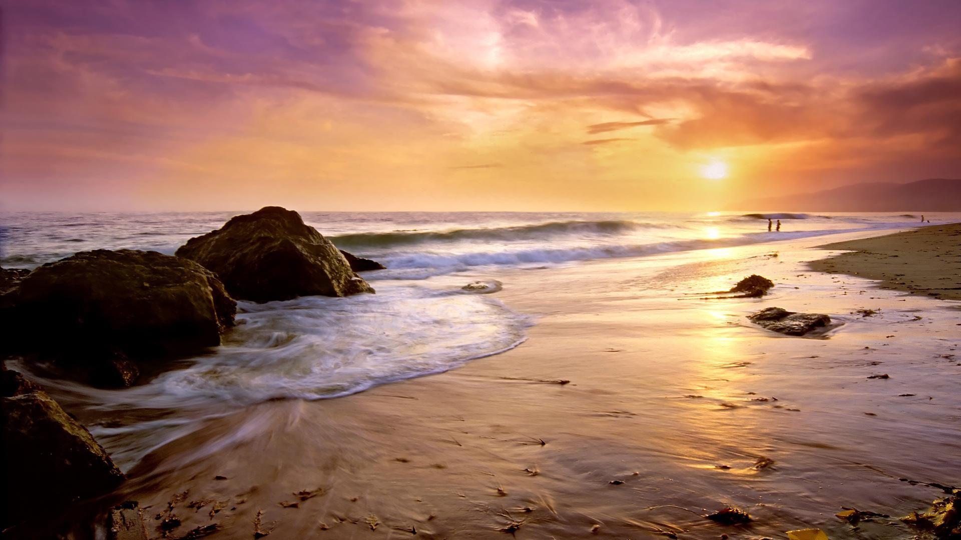 Tumblr Beach Sunset Backgrounds 7097 1920 x 1080 .