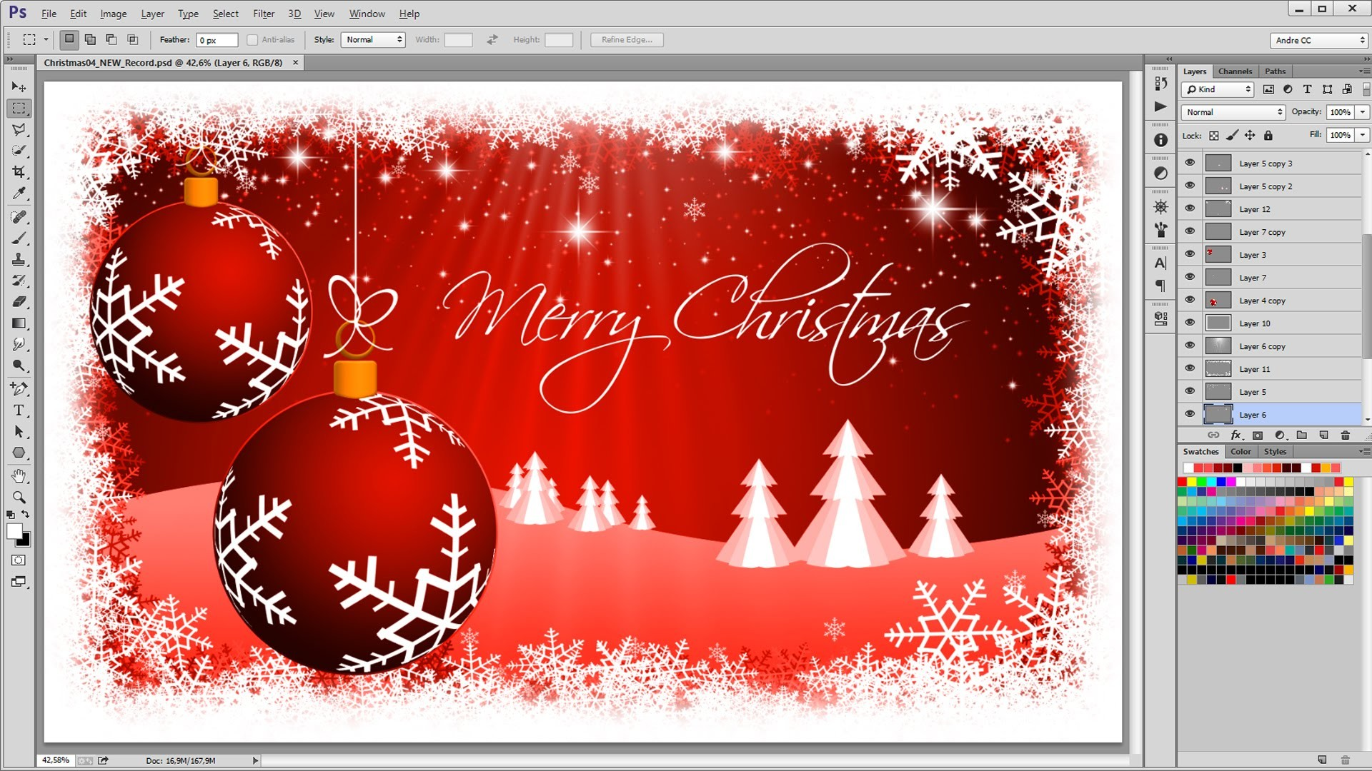How to create a Christmas Background – Photoshop Tutorial – Timelaps –  YouTube