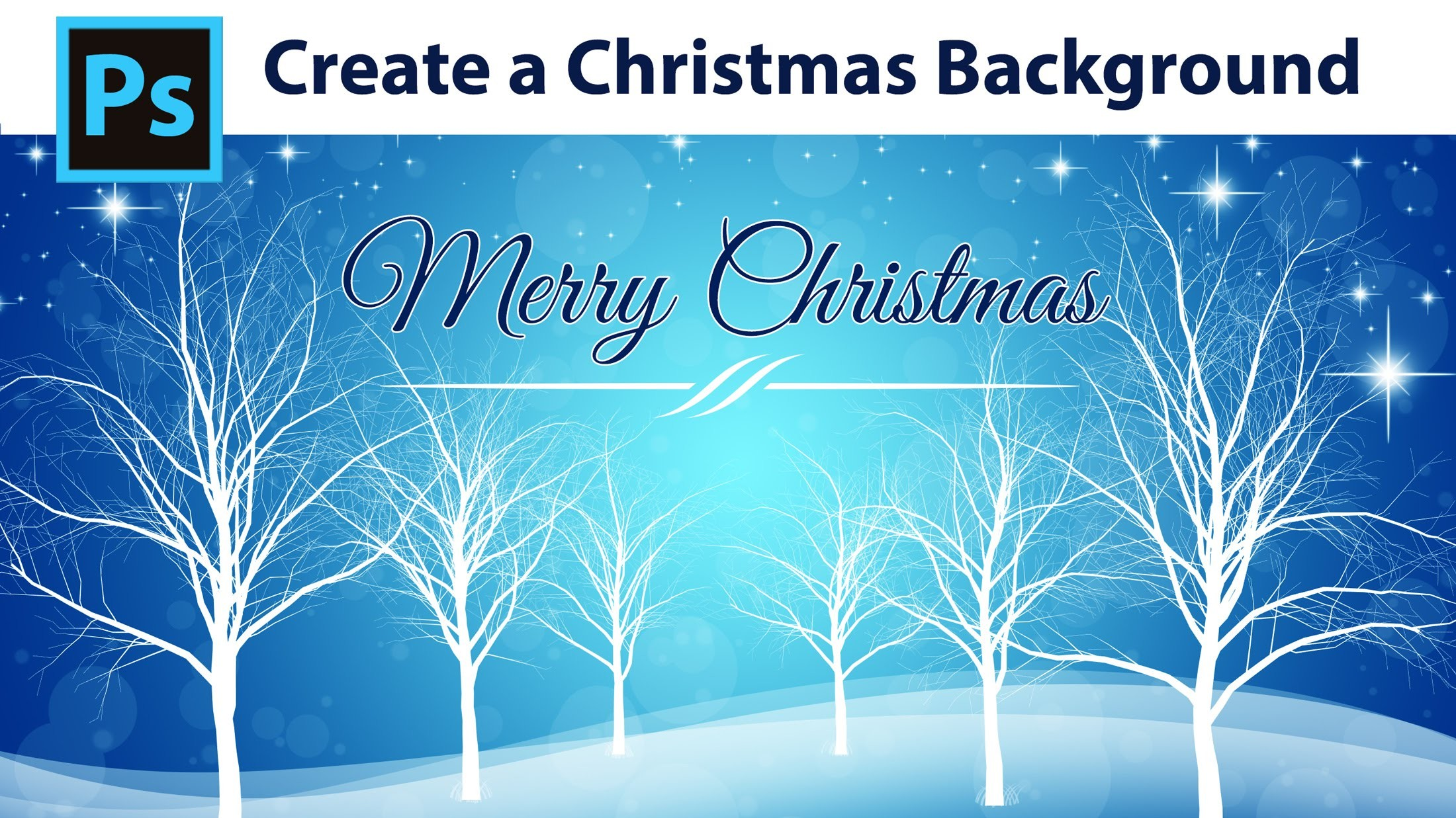 Photoshop Tutorial – How to create a Winter Christmas Background – YouTube