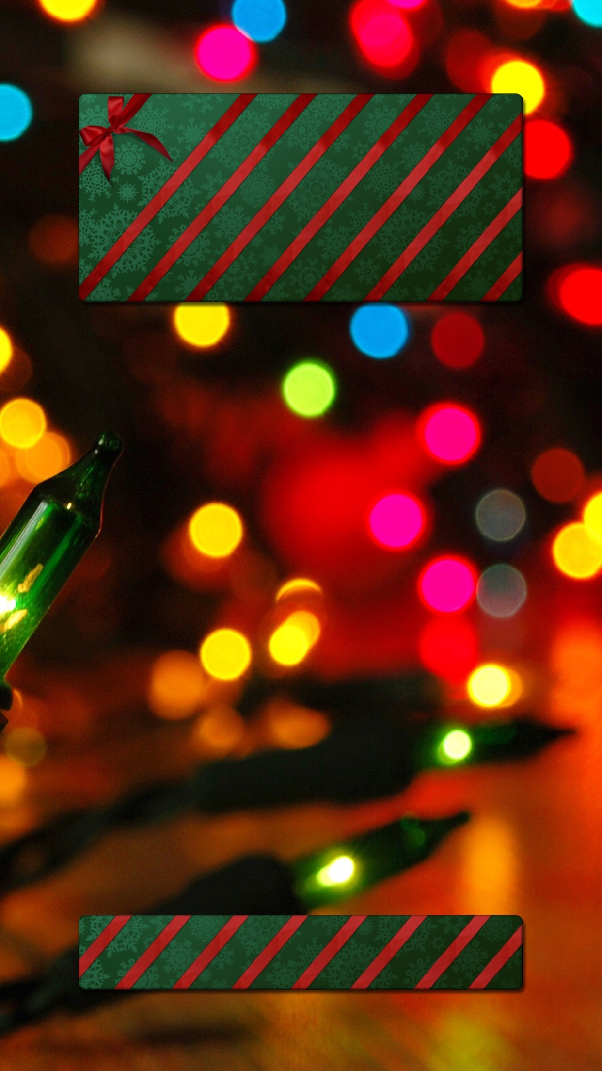 Christmas Holiday Lights Sweets Multicolour HD iPhone 6 Plus Lock Screen