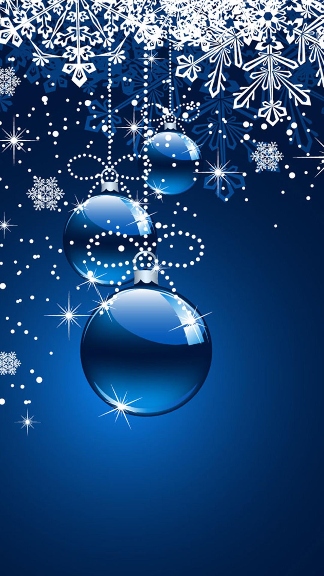 Christmas snowflake iPhone 6 plus wallpaper – balls, floating ornaments –  christmas snowflake iphone 6 plus wallpaper: Christmas themed iPhone 6 plus  …