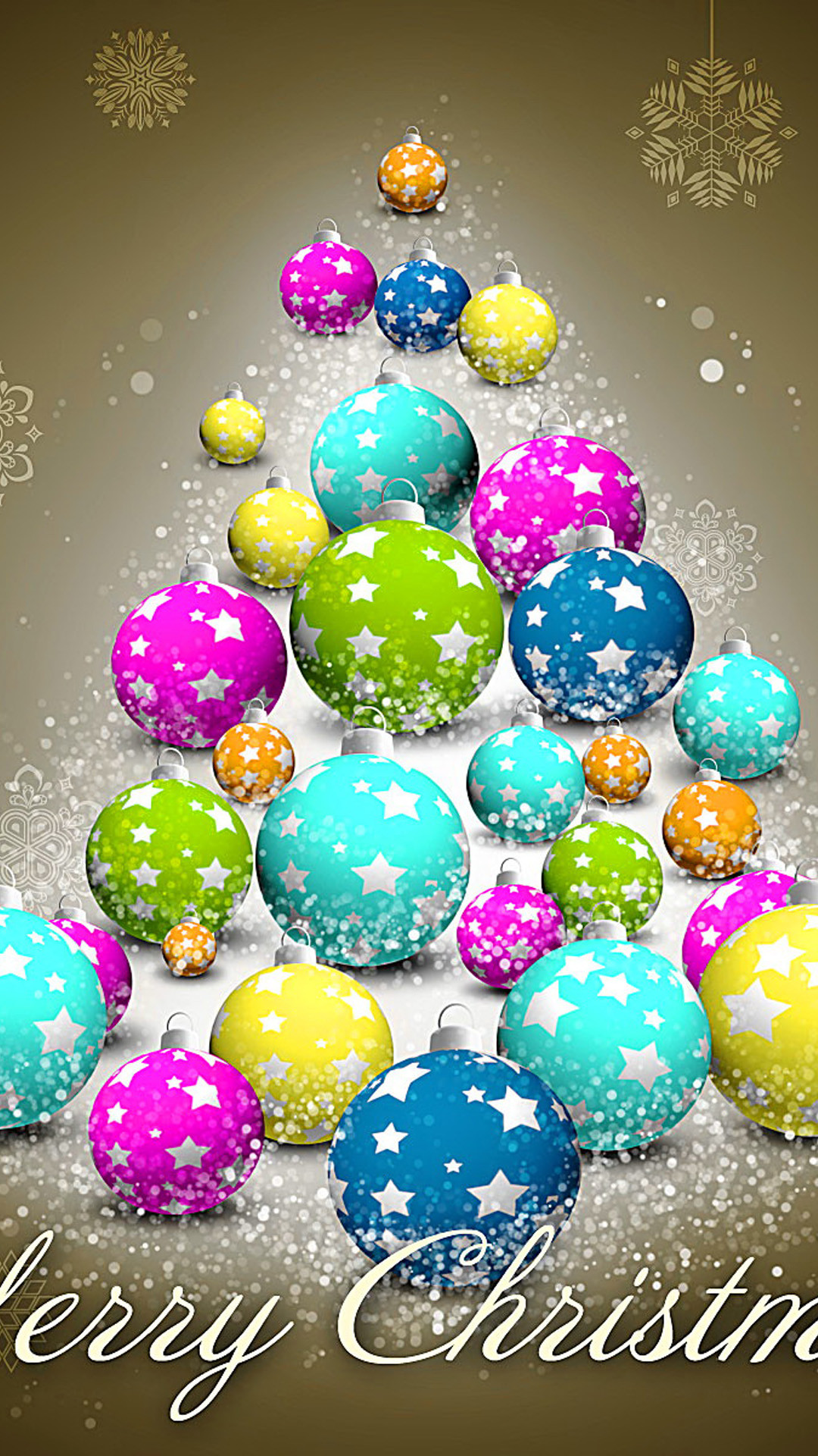 Colorful Christmas iphone wallpaper.