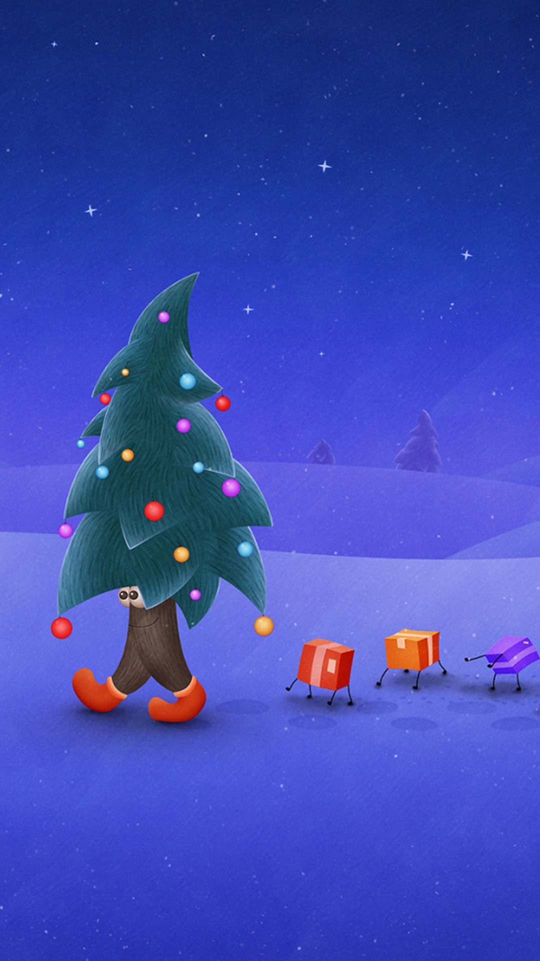 Funny Funny Christmas Tree HD Wallpaper iPhone 6 plus