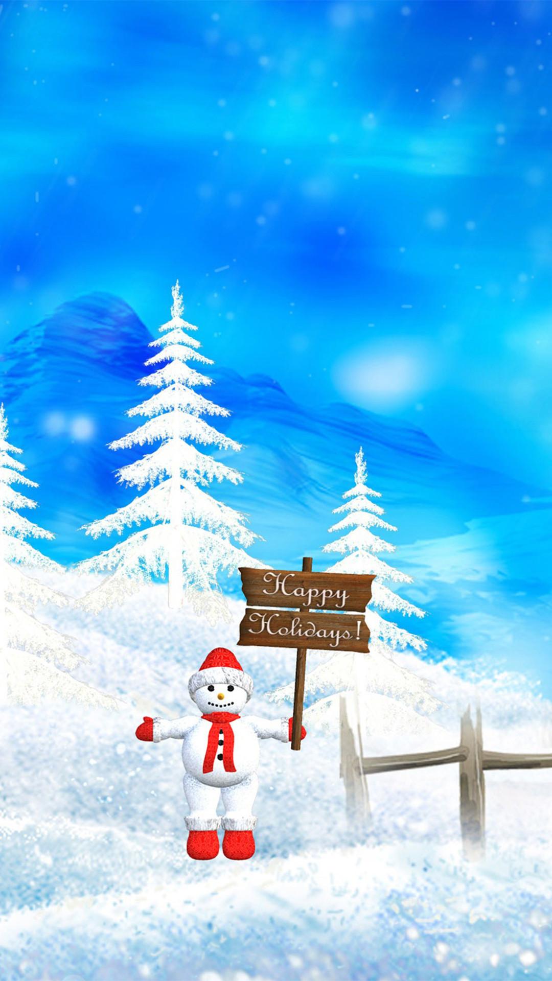 Snowman-Christmas-Wallpaper-iphone-6-Plus-by-Blackberyy-