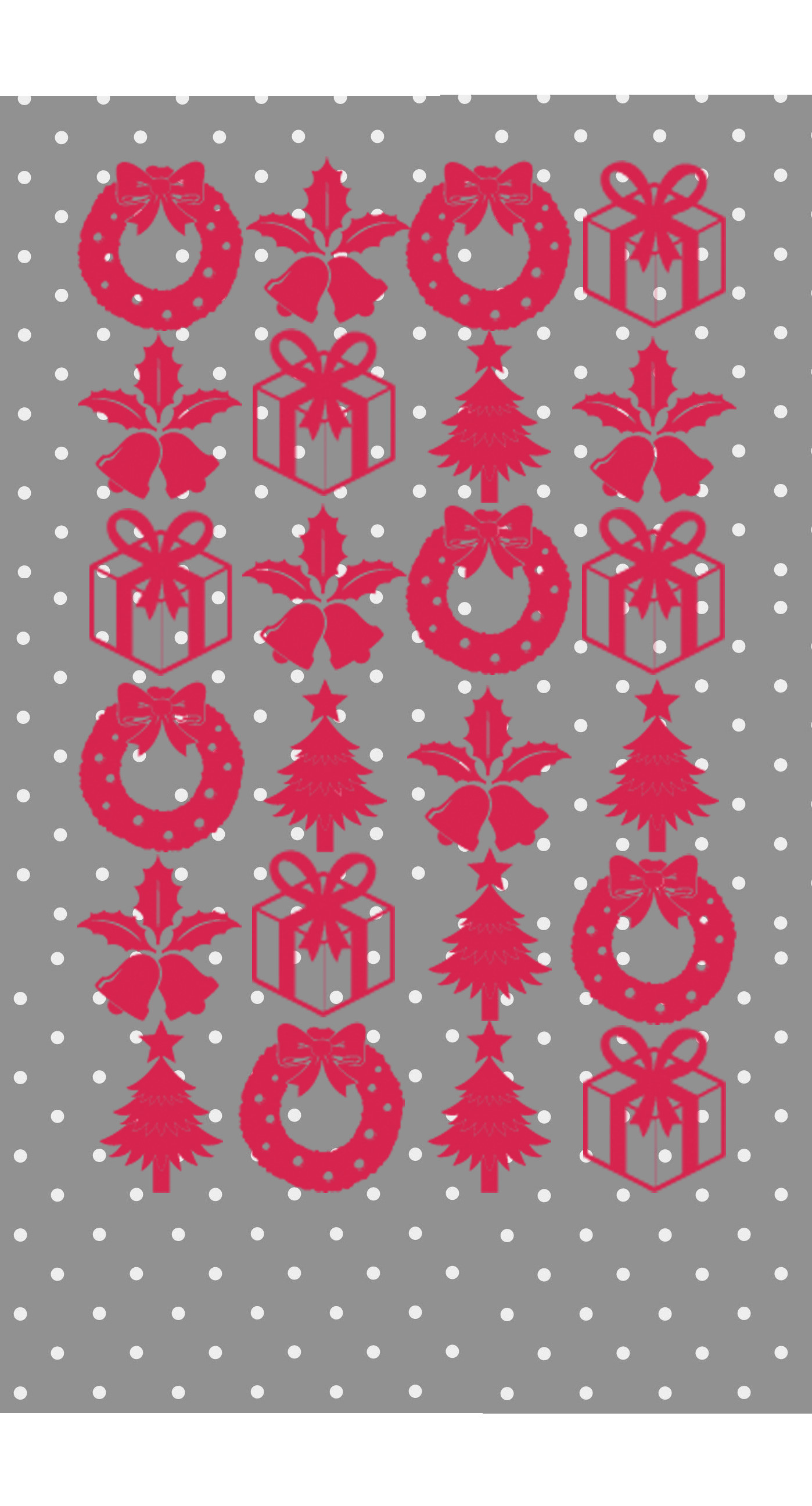 Shelf Christmas silver red gift iPhone6s Plus / iPhone6 Plus Wallpaper