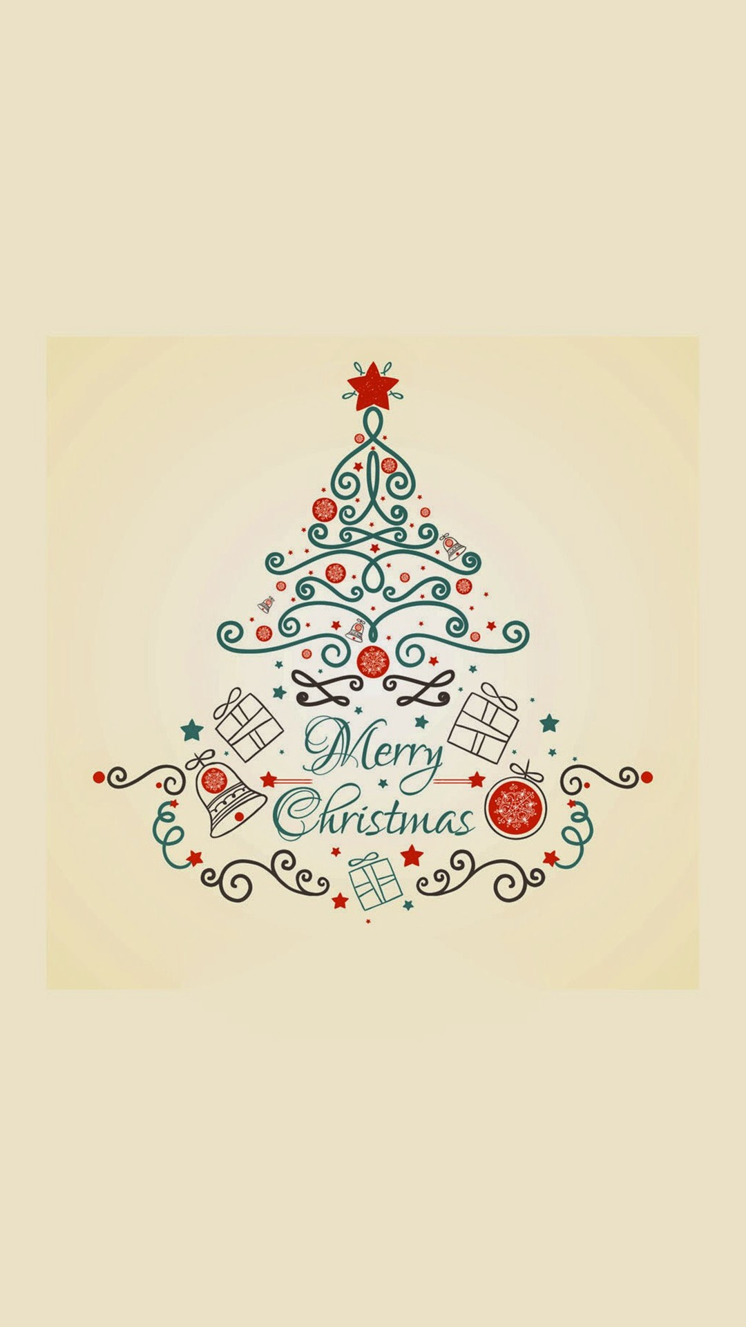Christmas Tree 2015 Wishes iPhone 8 wallpaper