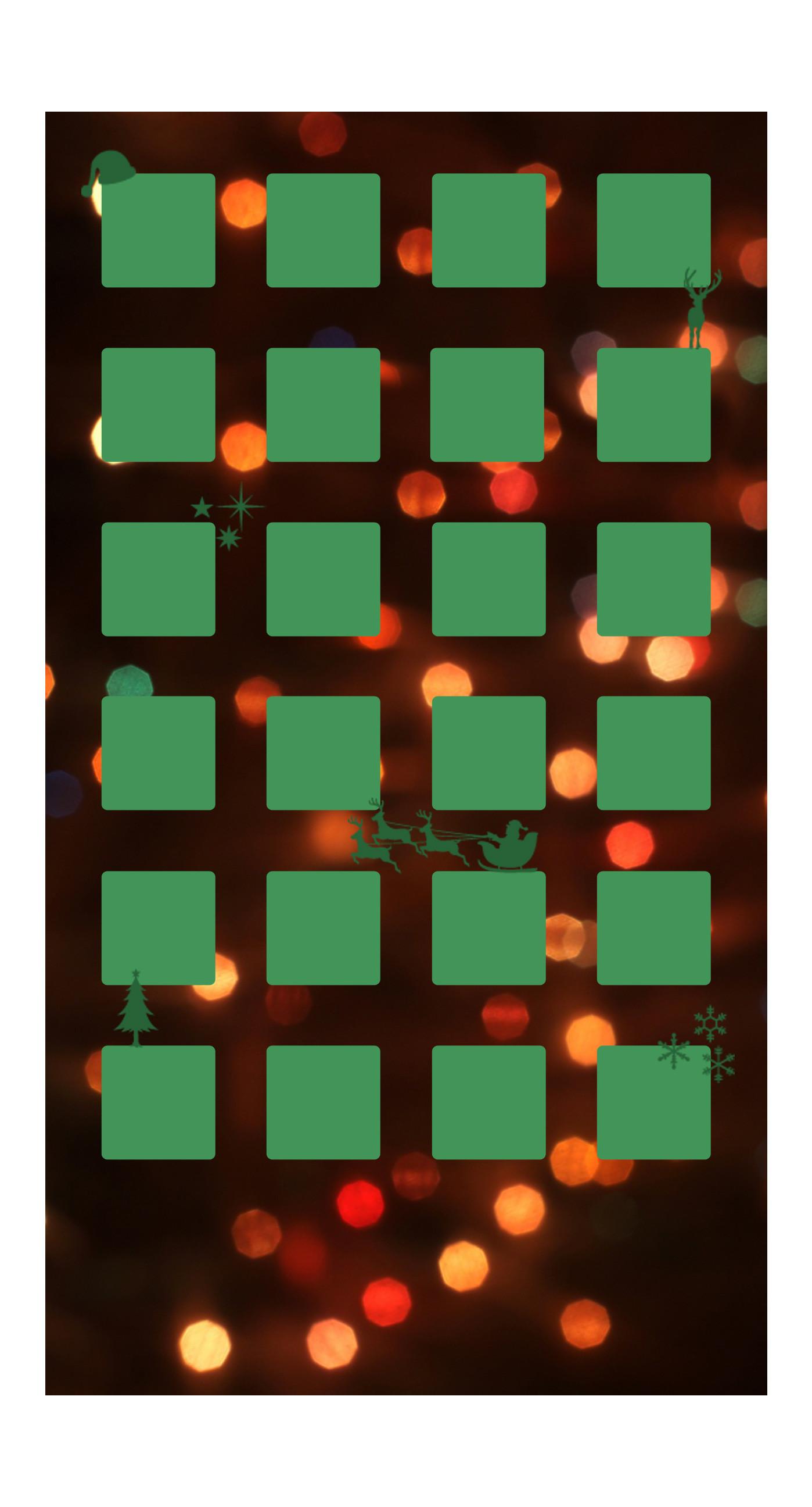 Shelf Christmas green light women iPhone6s Plus / iPhone6 Plus Wallpaper