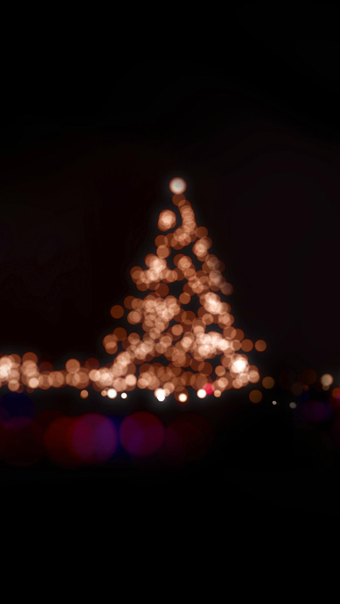 Christmas Lights Bokeh Love Dark Night iPhone 8 wallpaper