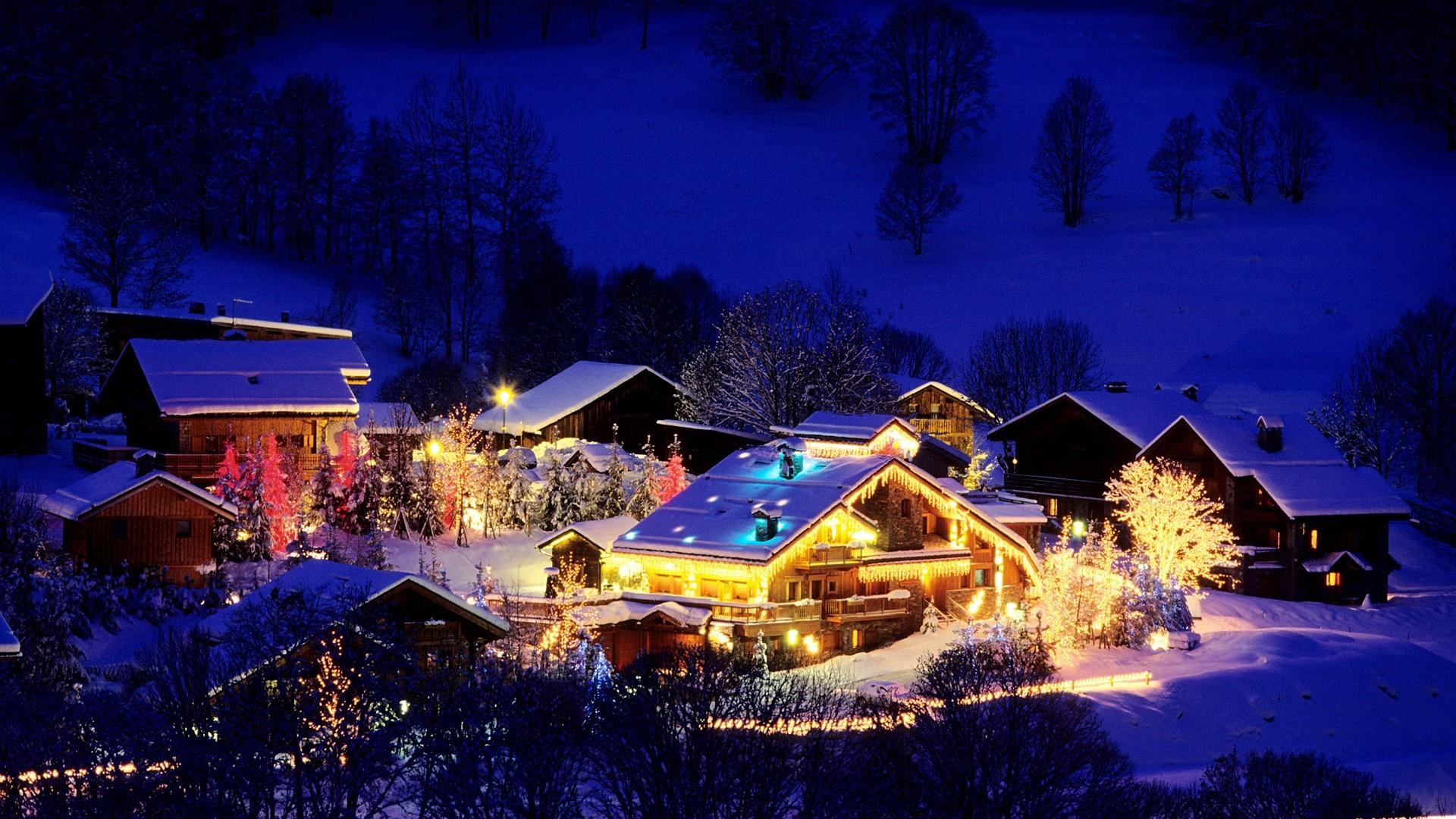 France Christmas Wallpaper France, Christmas, Ski, Resort