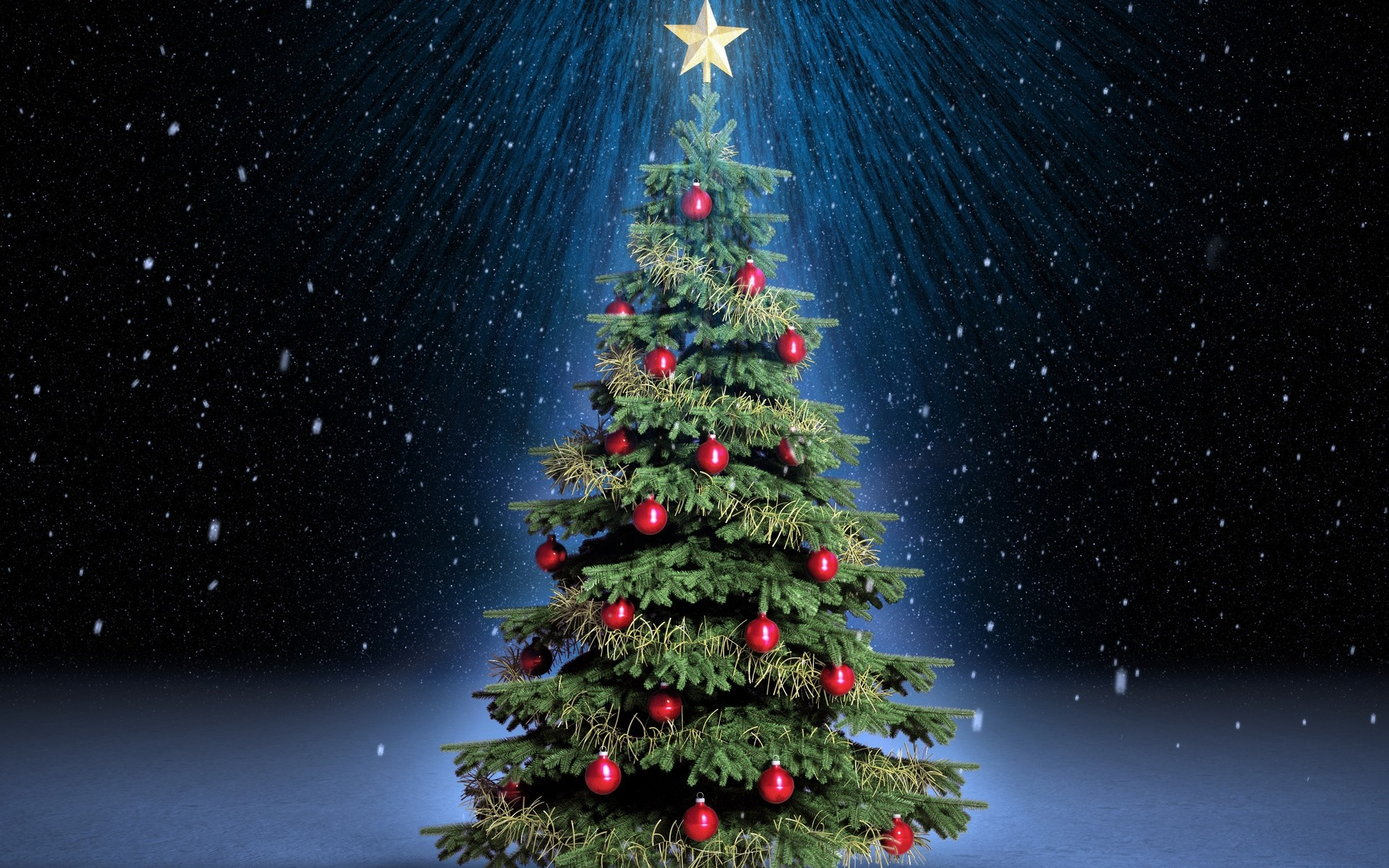 happy merry christmas tree hd wallpaper