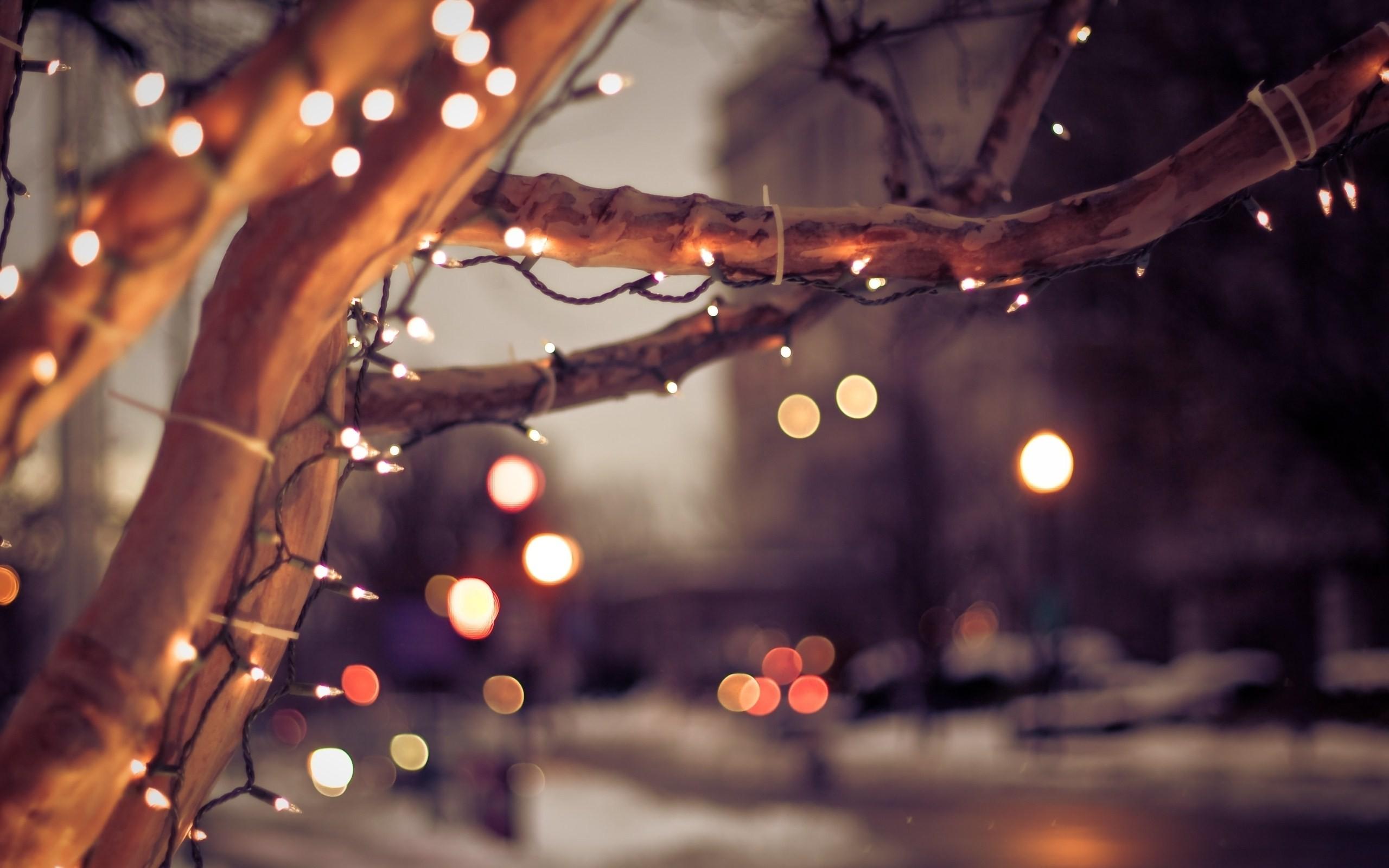 Christmas Lights Bokeh Wallpaper