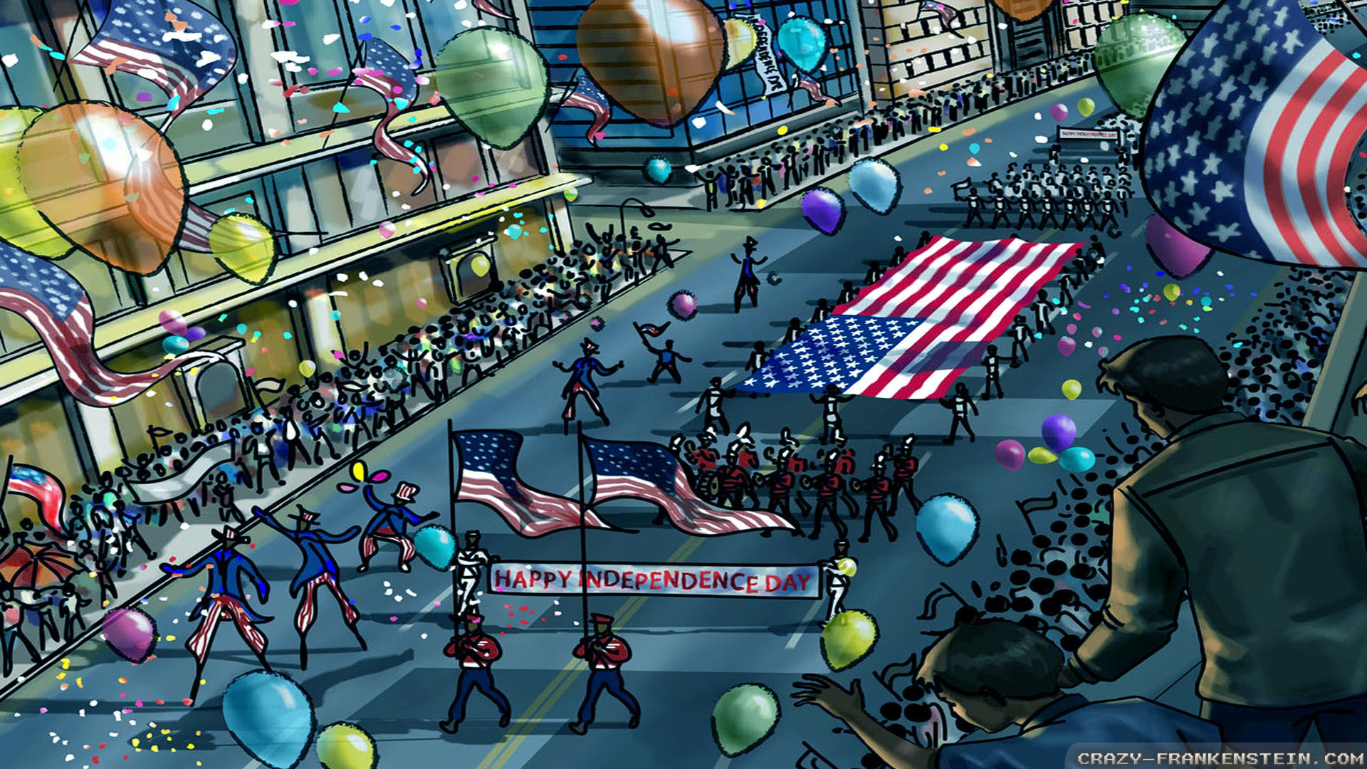 Wallpaper: July 4th parade wallpapers. Resolution: 1024×768 | 1280×1024 |  1600×1200. Widescreen Res: 1440×900 | 1680×1050 | 1920×1200