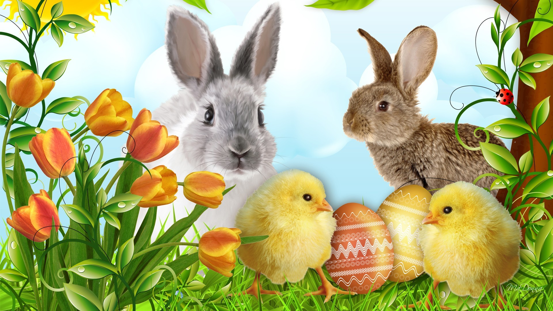 Happy Easter Desktop Wallpaper HD (10)
