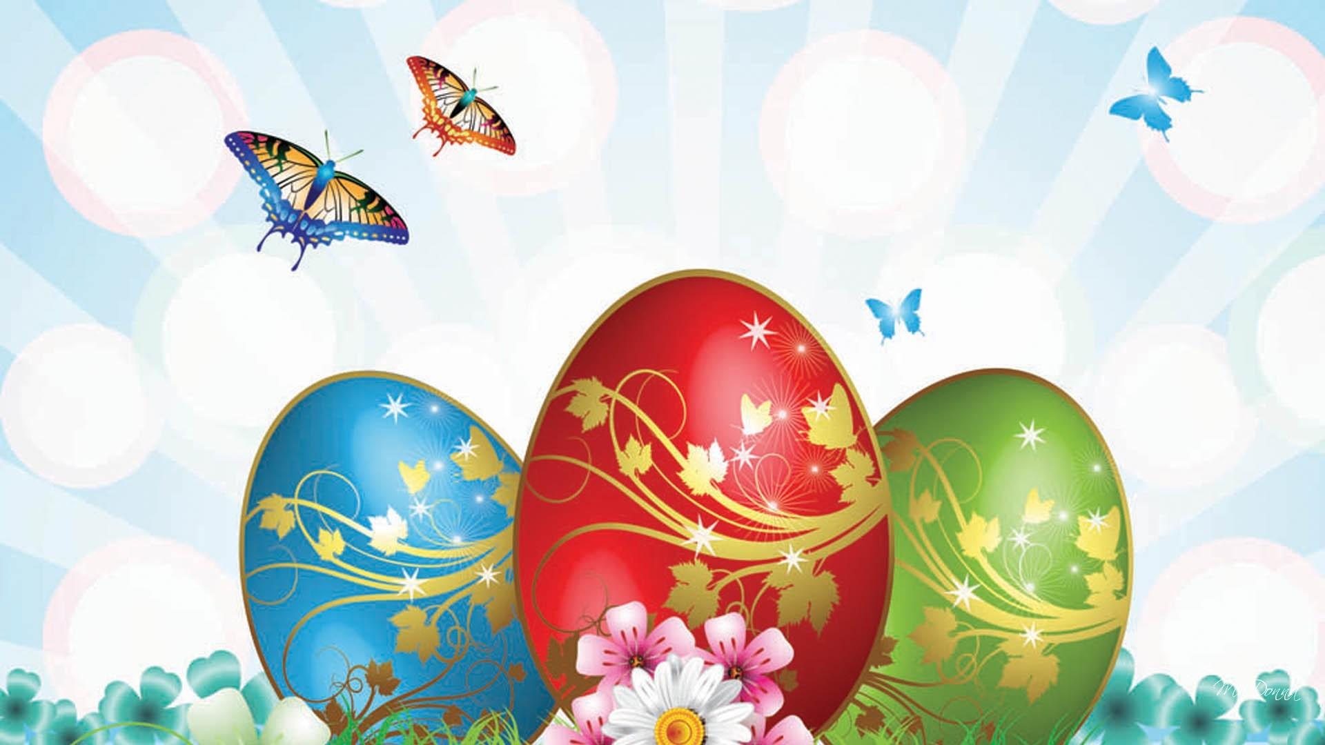 Beautiful animated Easter HD widescreen wallpaper