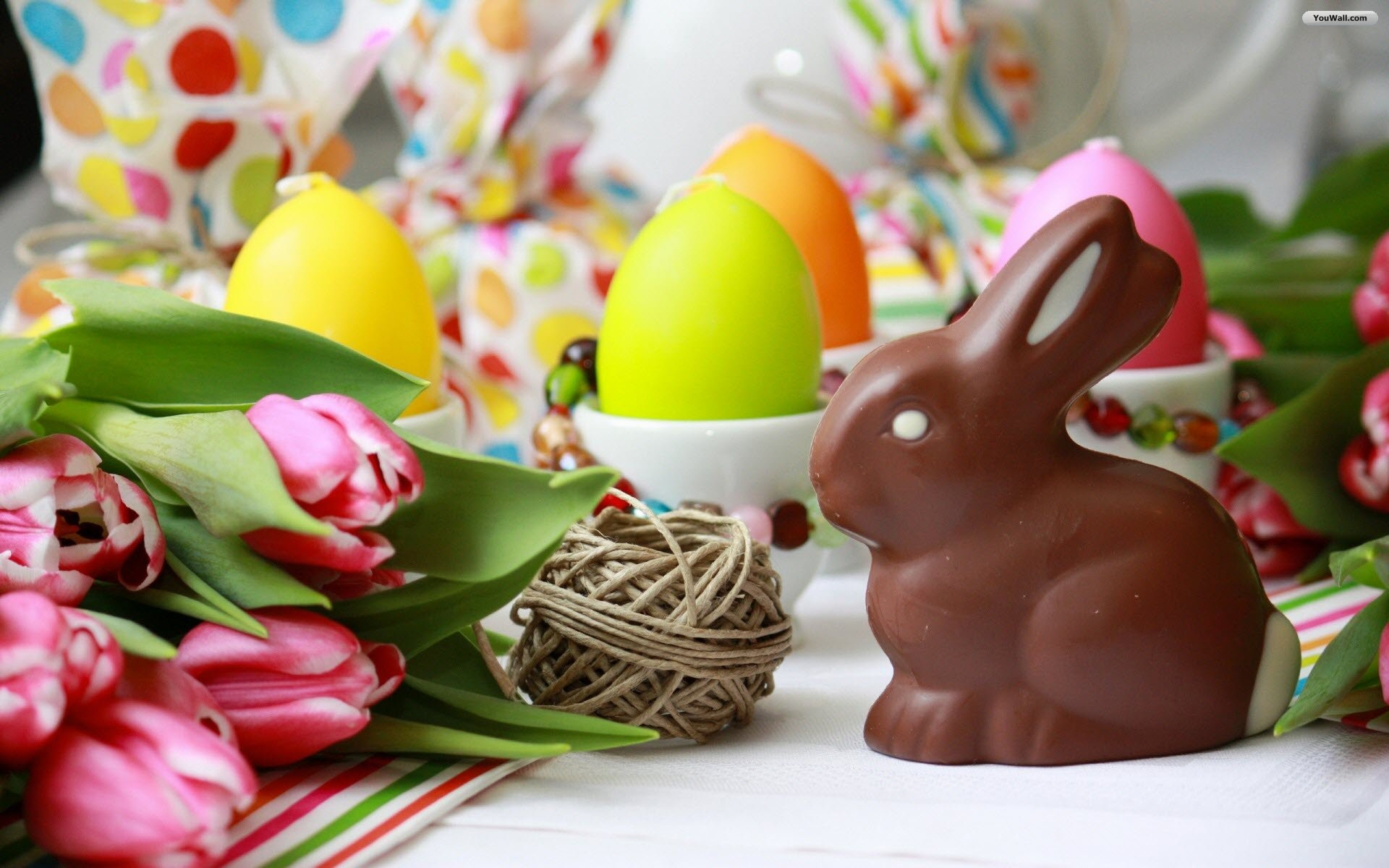 Easter Chocolate Bunny Wallpaper