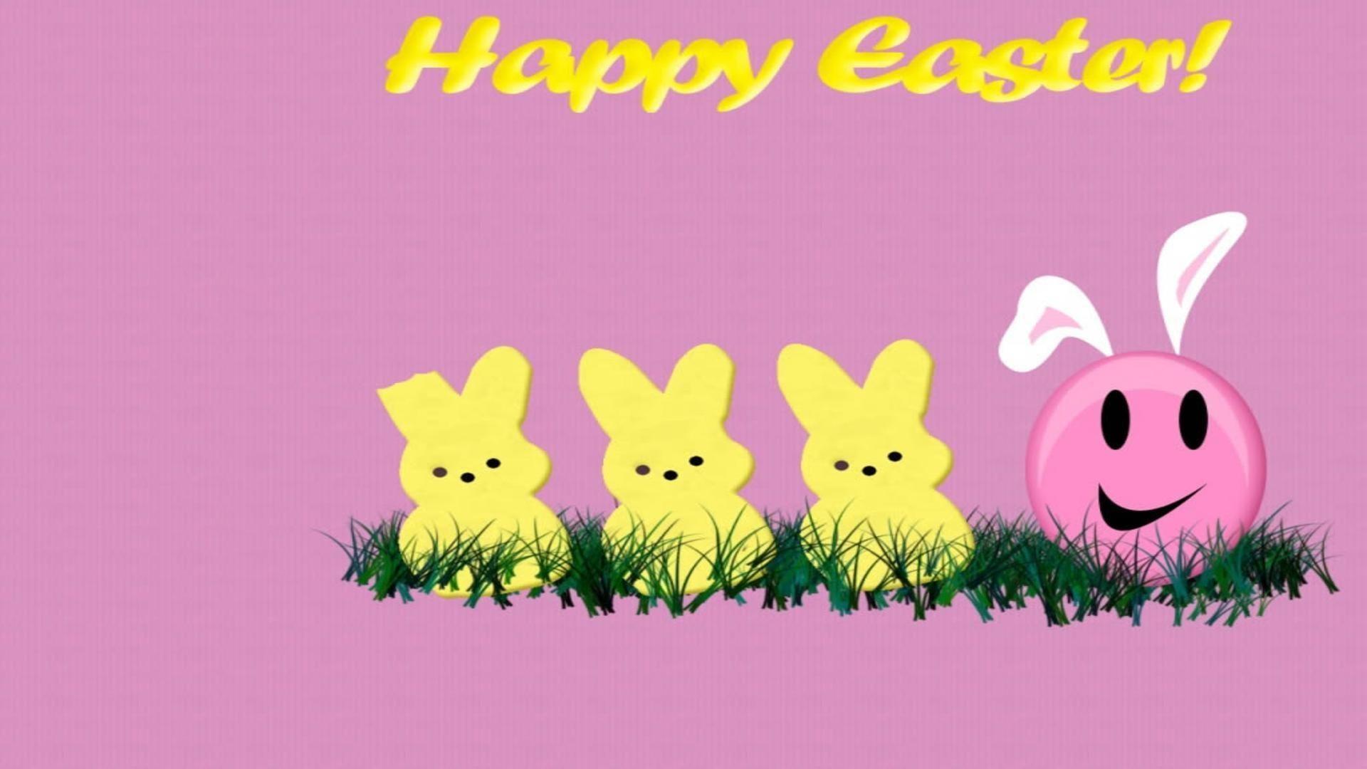 Happy easter pink theme free desktop background – free wallpaper image