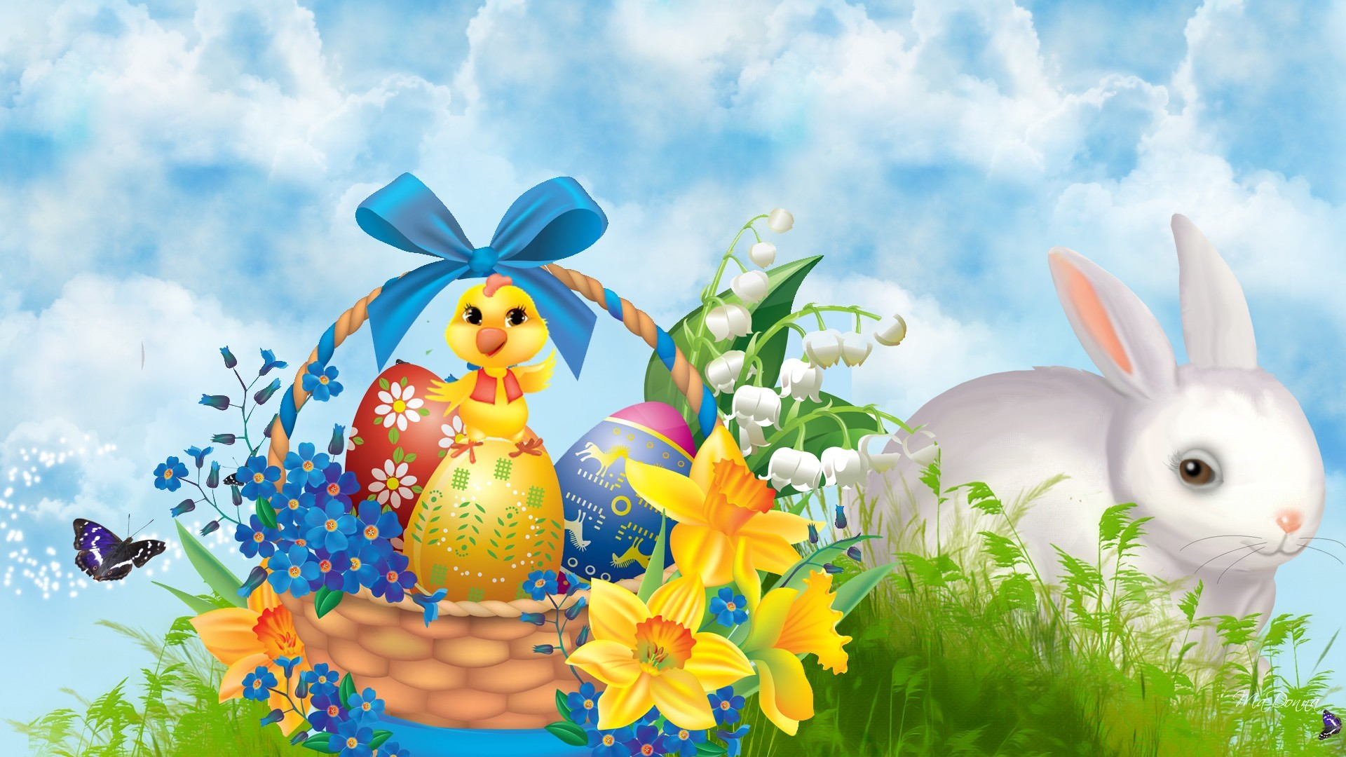 HD Bunnies And Easter Wallpapers Desktop Backgrounds | Funmole