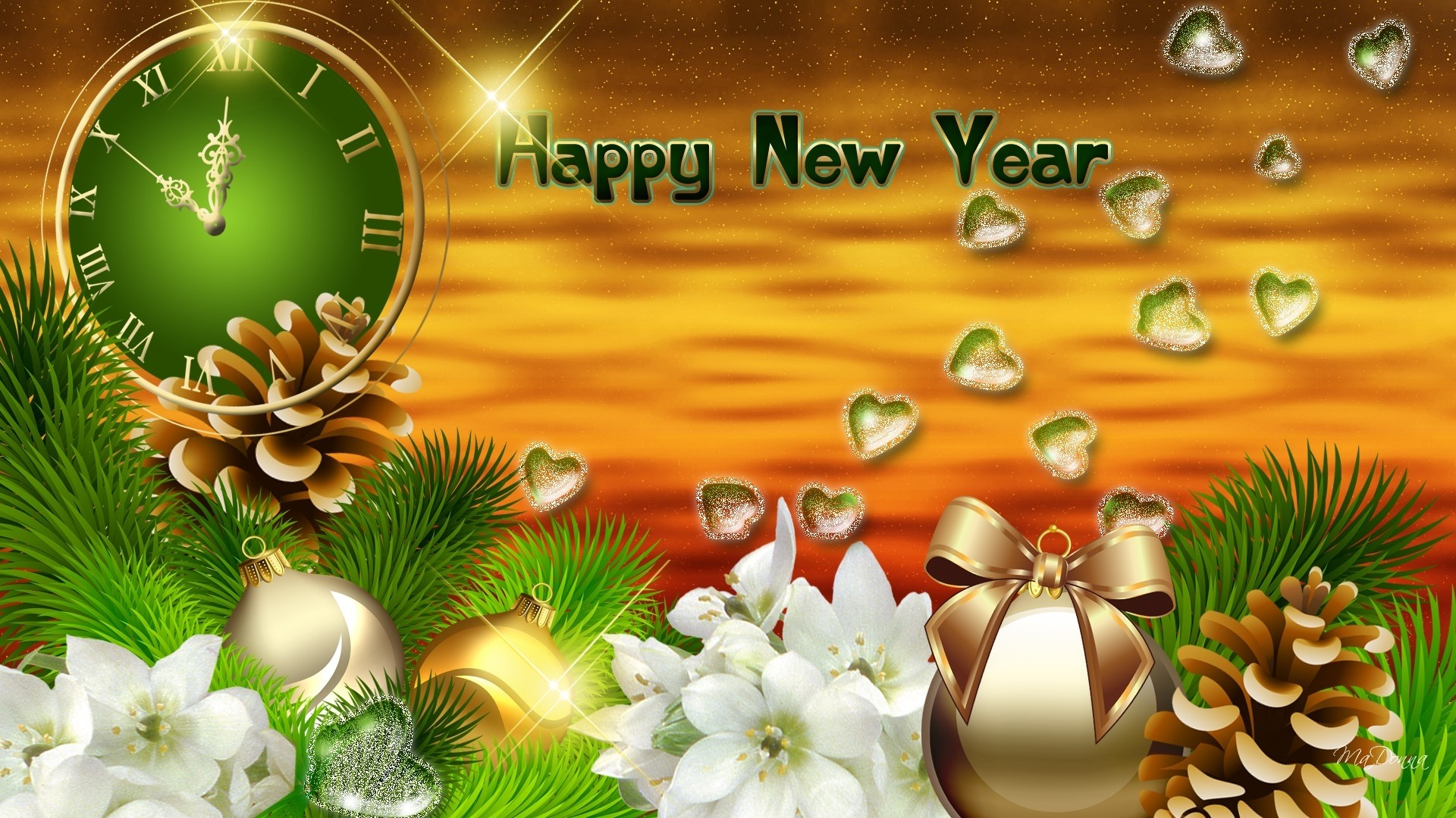 Happy New Year 2014 HD Wallpaper – New Year Widescreen HD .