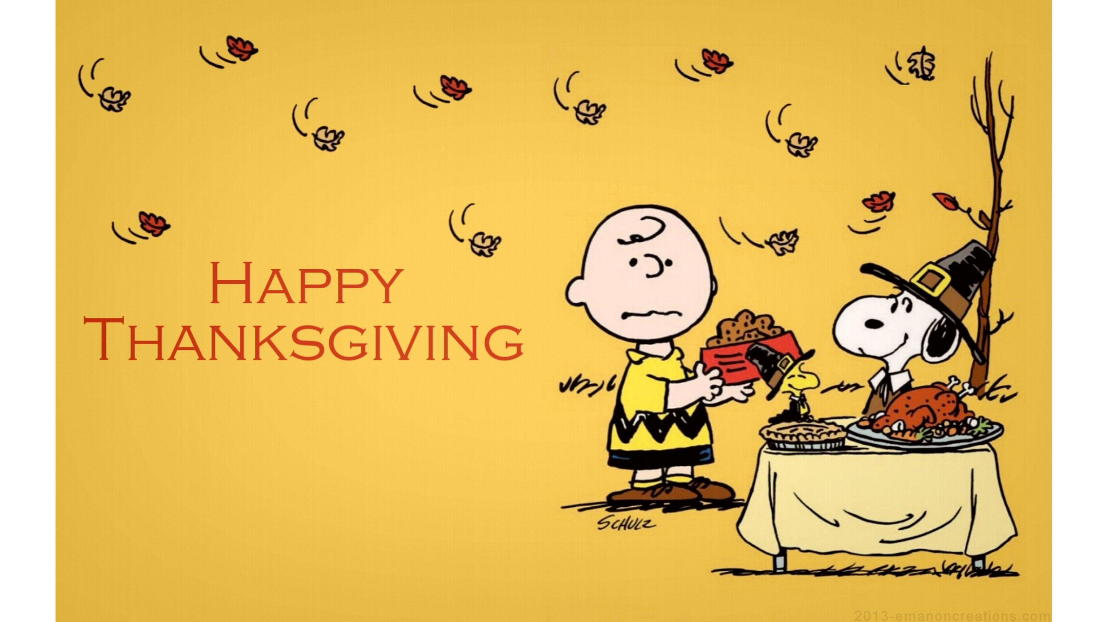 Charlie Brown Thanksgiving 4K Wallpaper