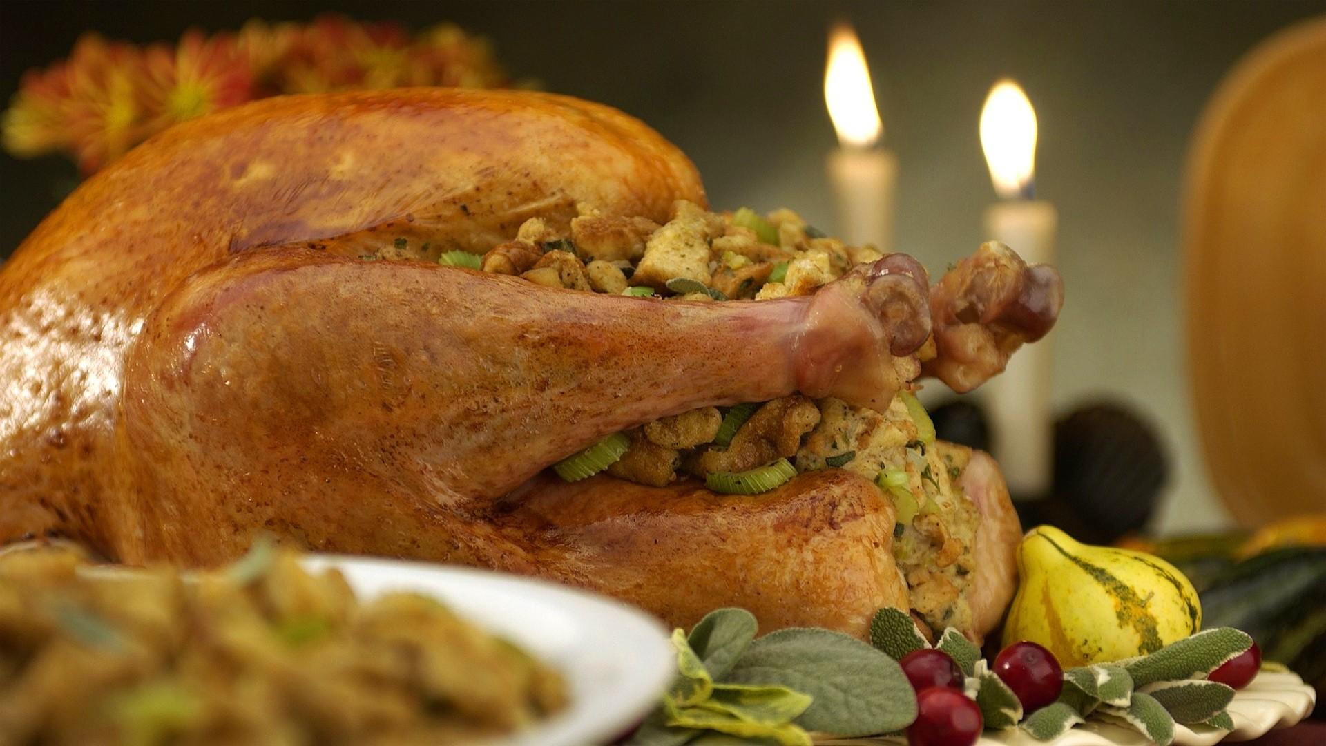 Food Turkey meat thanksgiving candles fire wallpaper     58940    WallpaperUP