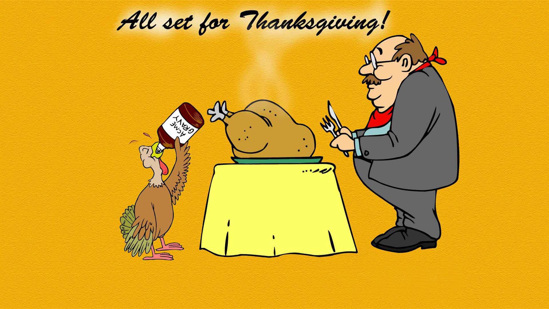 1080p Cartoon Thanksgiving Wallpaper