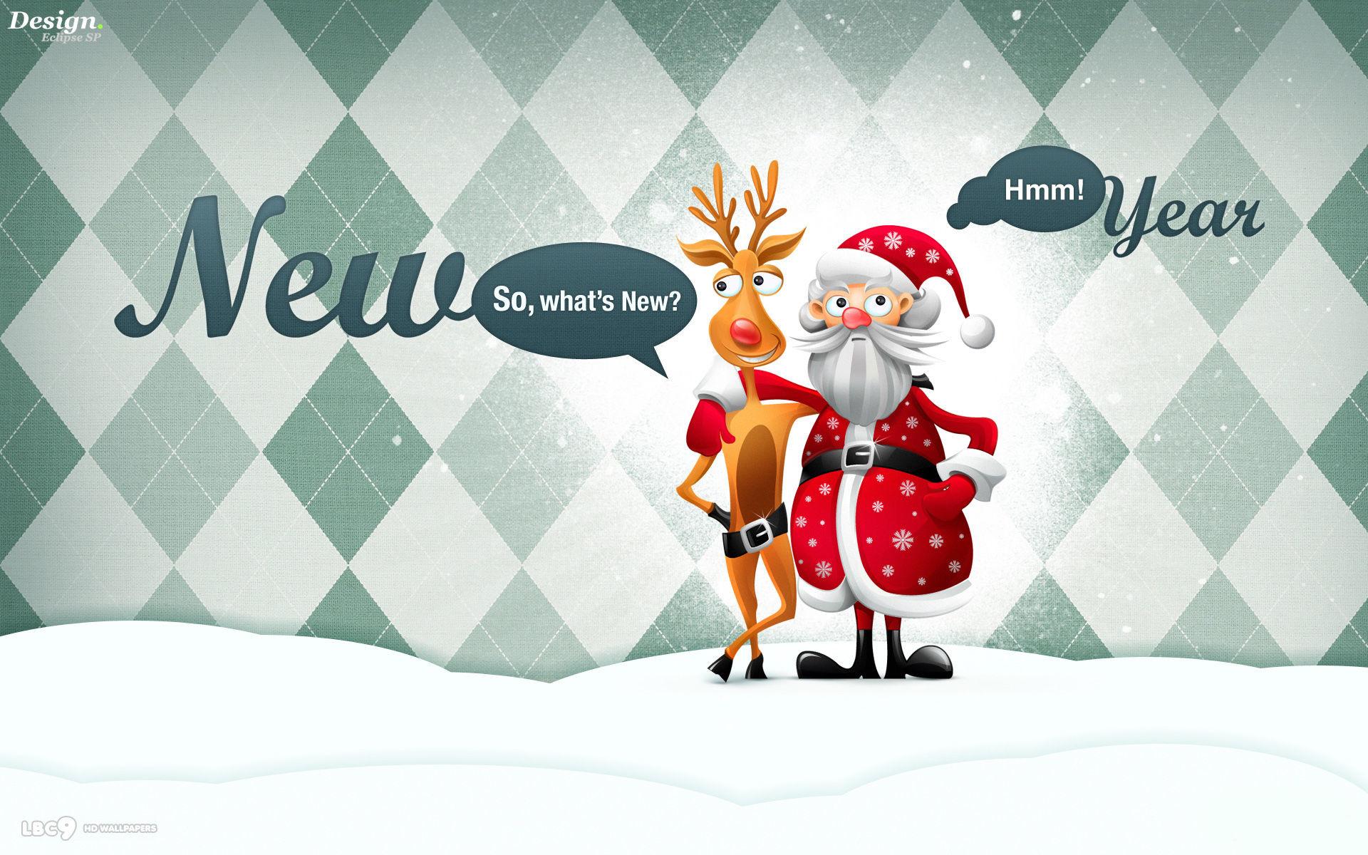 … new year funny rudolph red nosed reindeer santa art holiday desktop  wallpaper