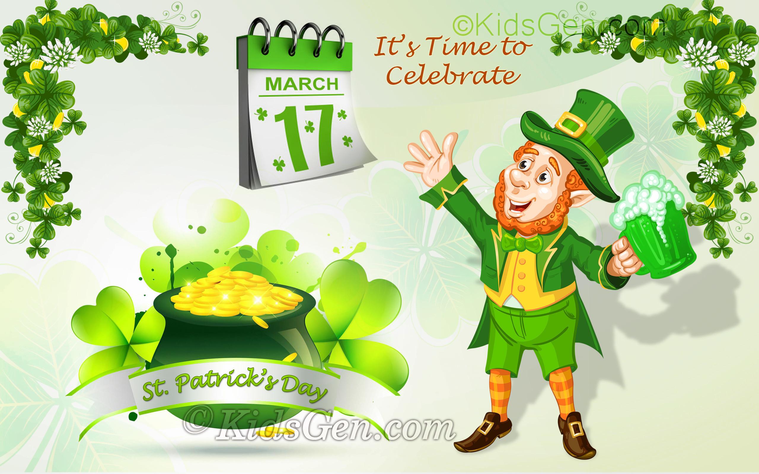 St. Patrick's Day Wallpaper for kids