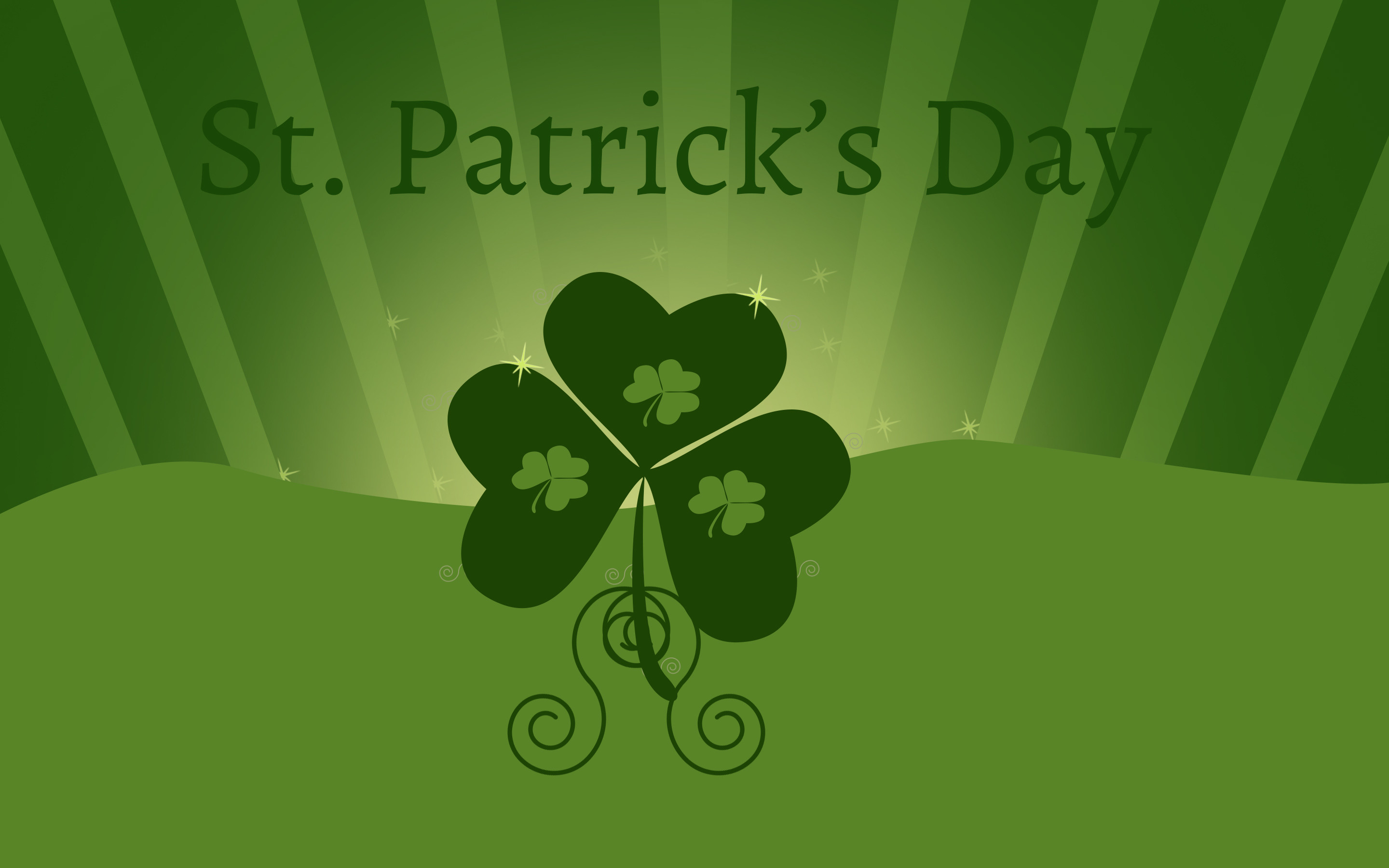 Holiday – St. Patrick's Day Clover Green Wallpaper