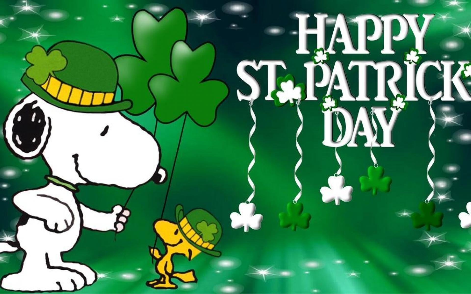 Snoopy St Patrick's Day