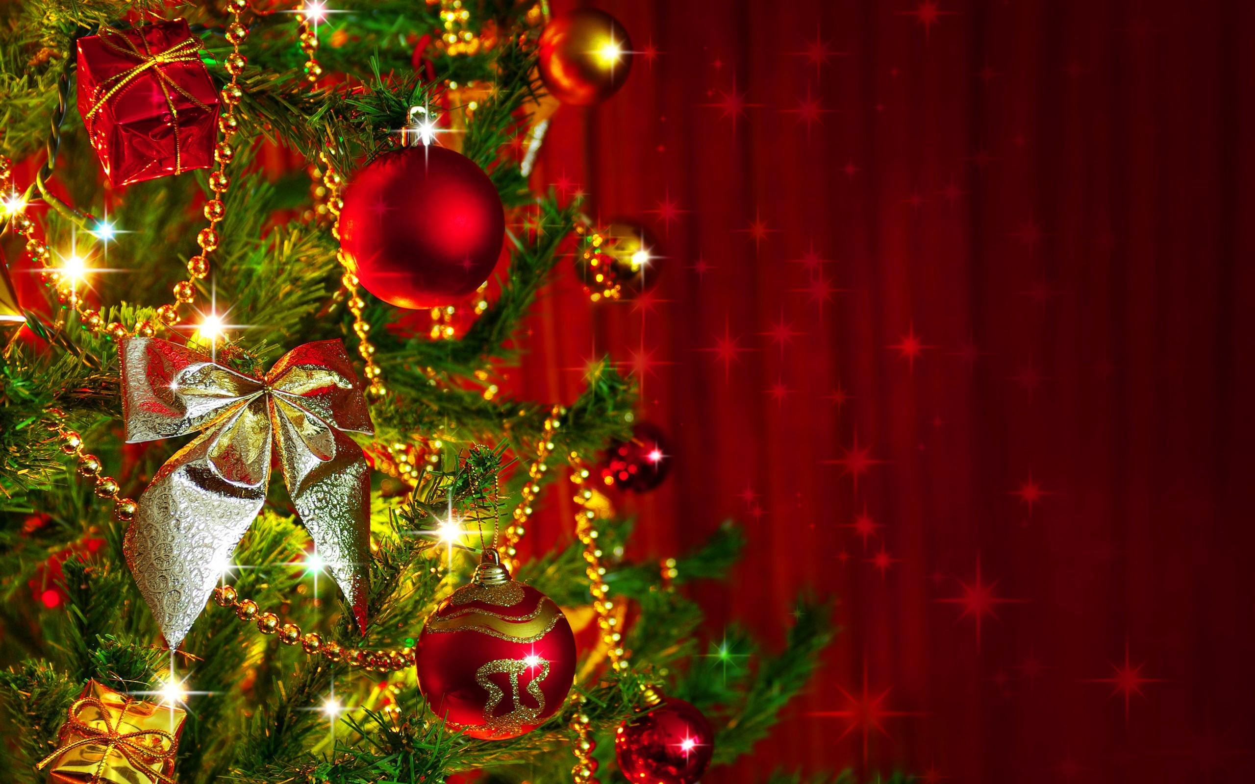 christmas tree decoration desktop wallpaper